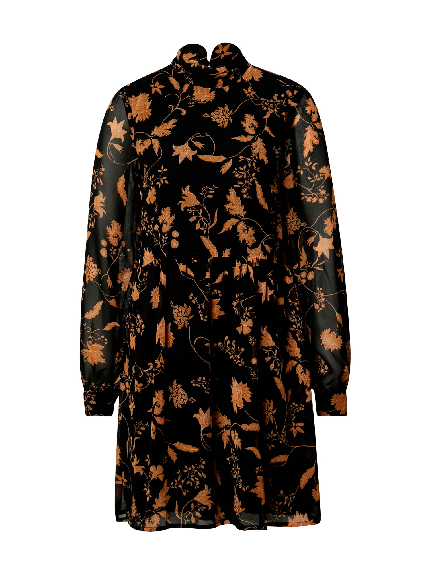 VILA Šaty  černá / oranžová