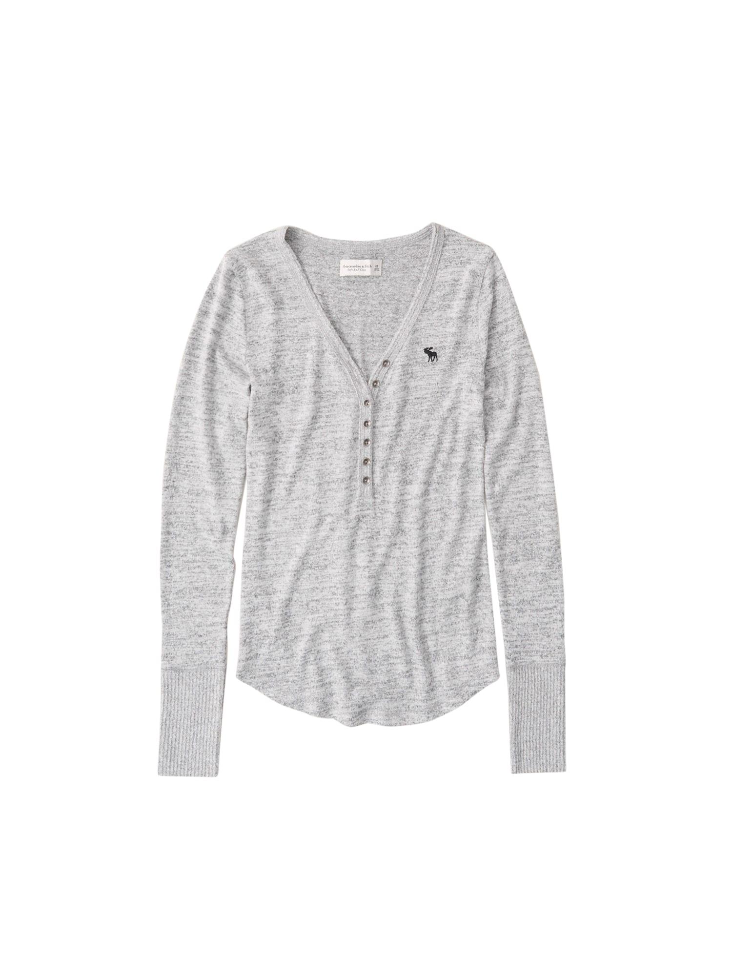 Abercrombie & Fitch Marškinėliai margai pilka
