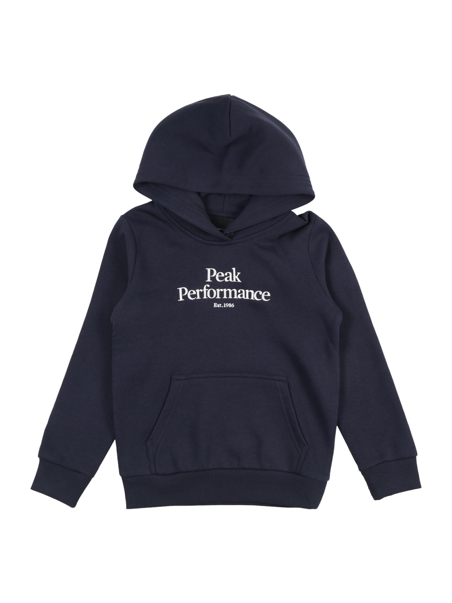 PEAK PERFORMANCE Sportovní mikina  námořnická modř / bílá