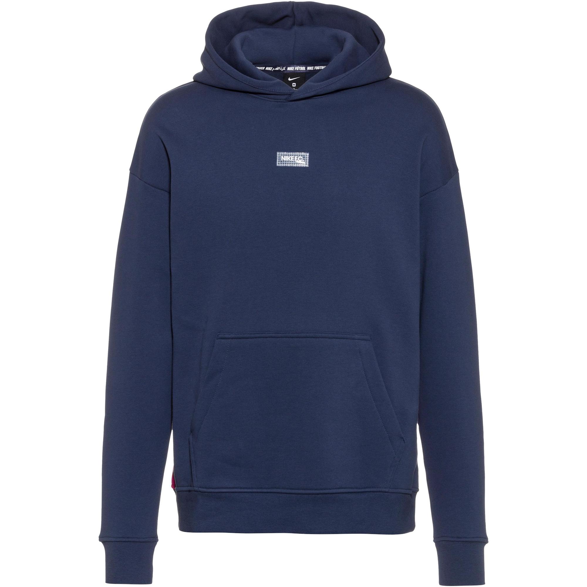 NIKE Sportinio tipo megztinis tamsiai mėlyna jūros spalva / balta / rožinė