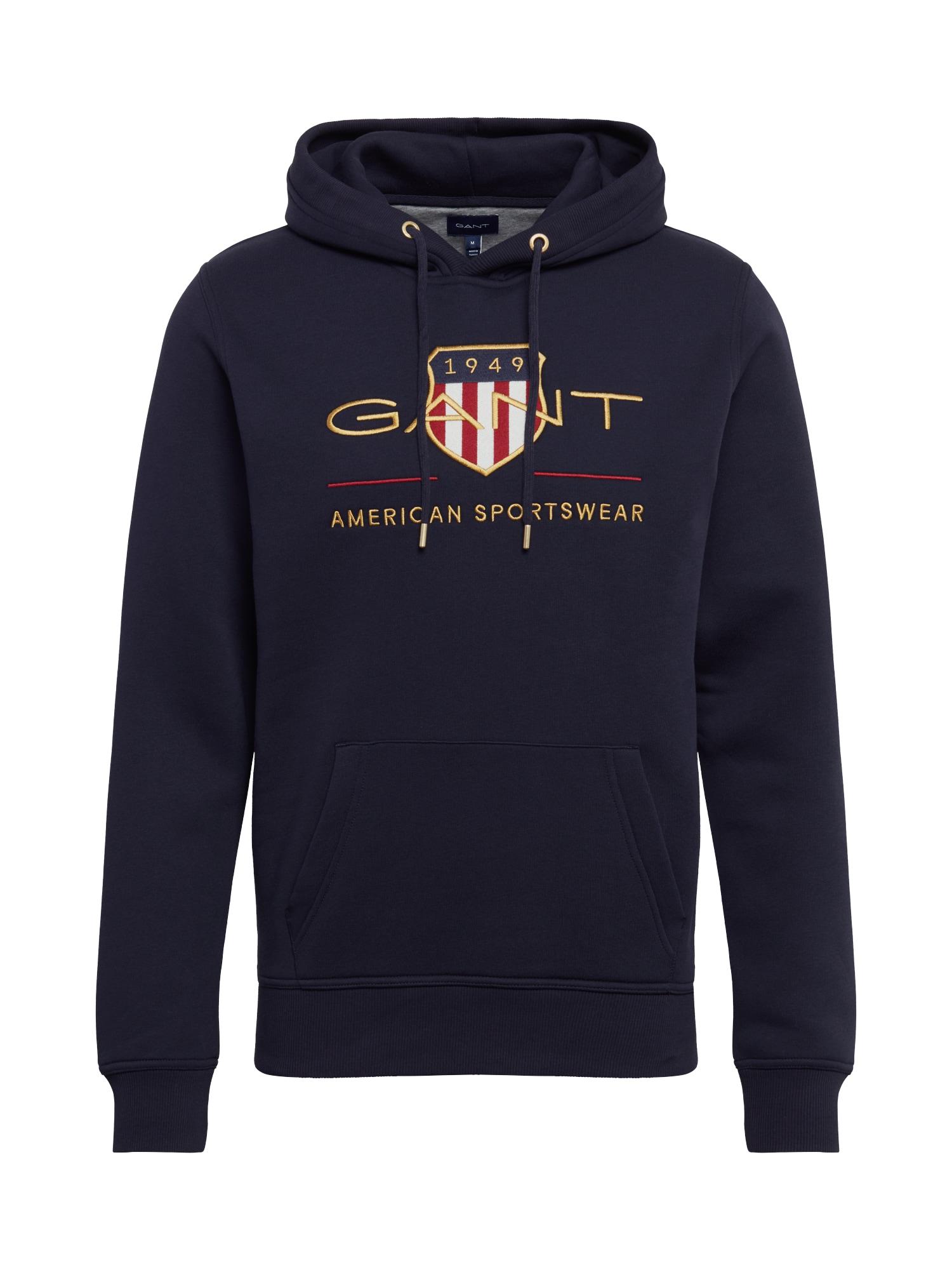 GANT Megztinis be užsegimo tamsiai mėlyna / auksas / raudona / balta