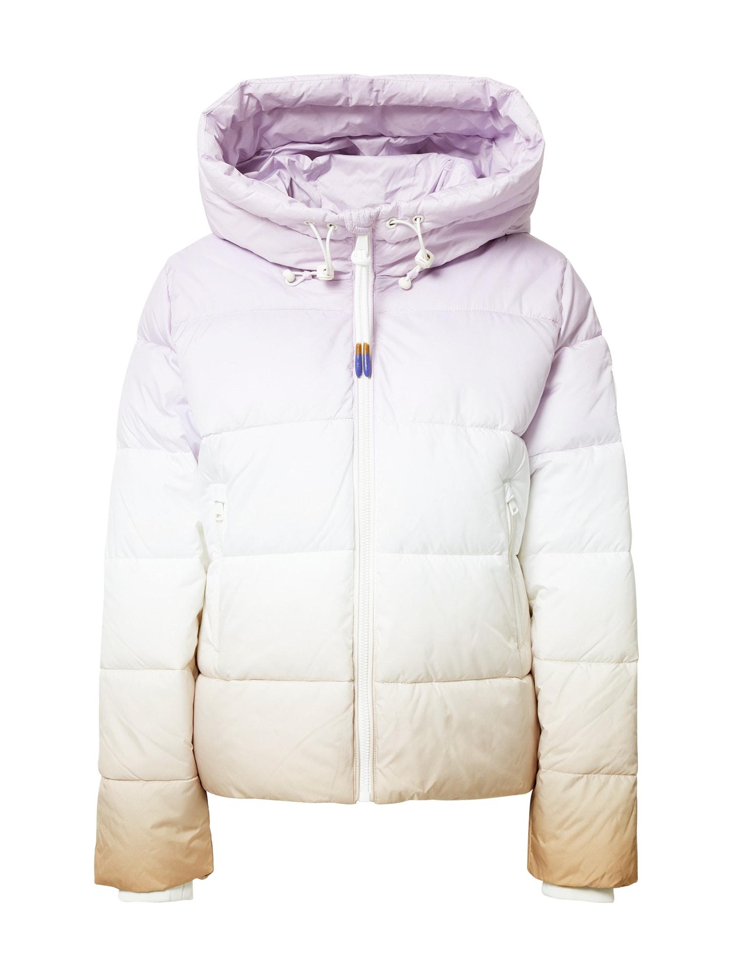 Marc O'Polo DENIM Zimní bunda ' Slow Down - No Down '  bílá / béžová / pastelová fialová