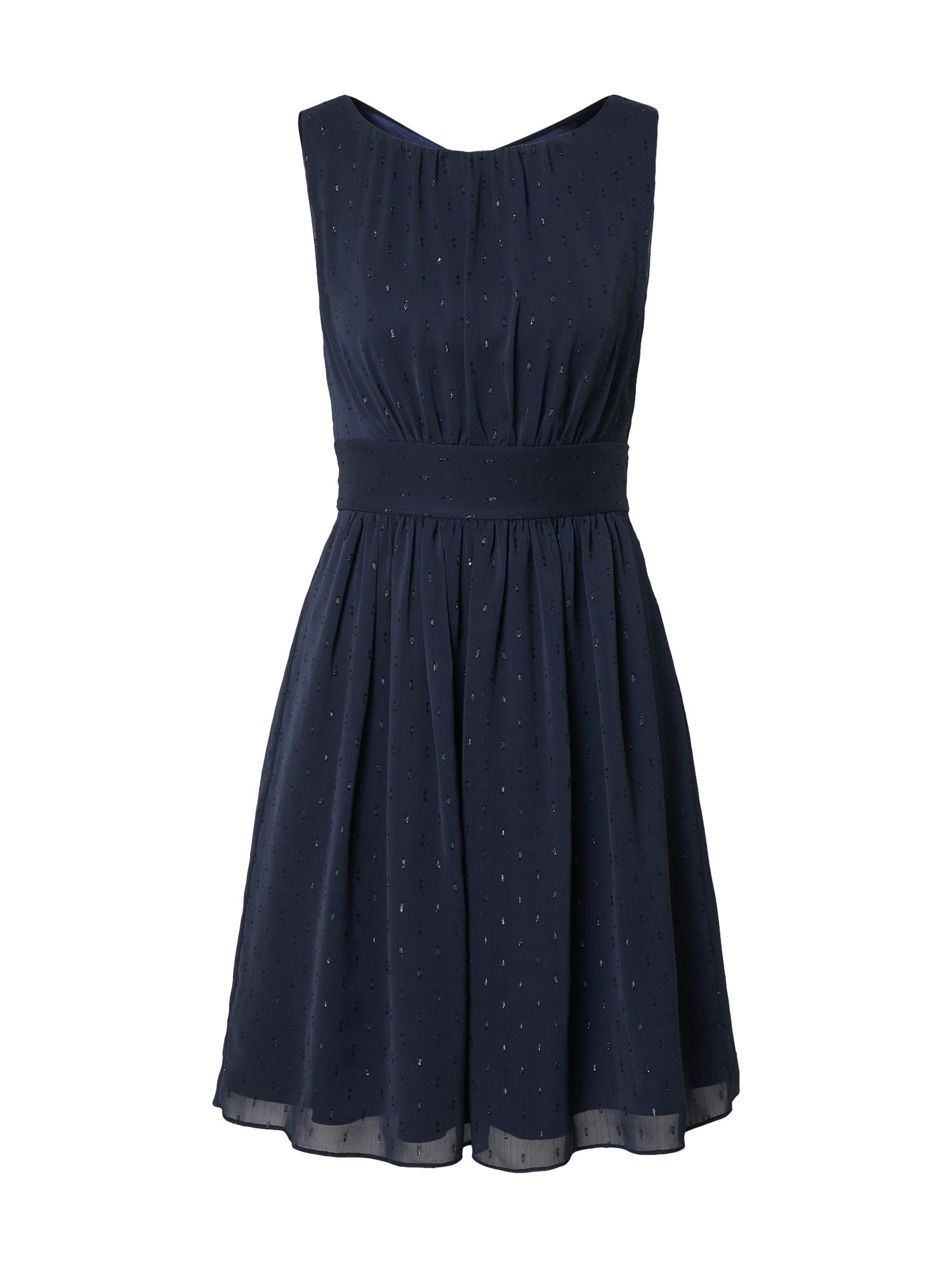 SWING Kokteilinė suknelė tamsiai mėlyna / sidabrinė