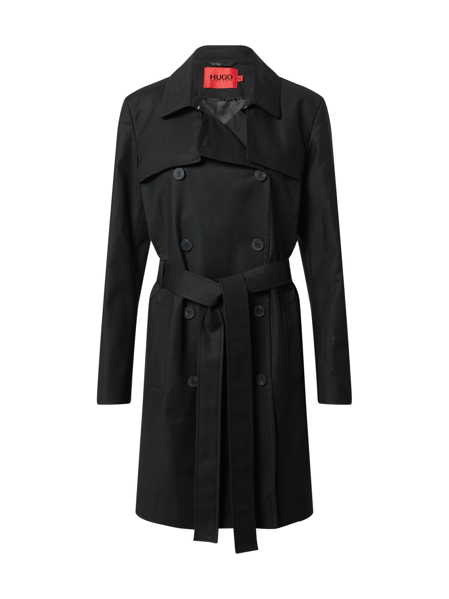 HUGO Demisezoninis paltas 'Makaras-2' juoda