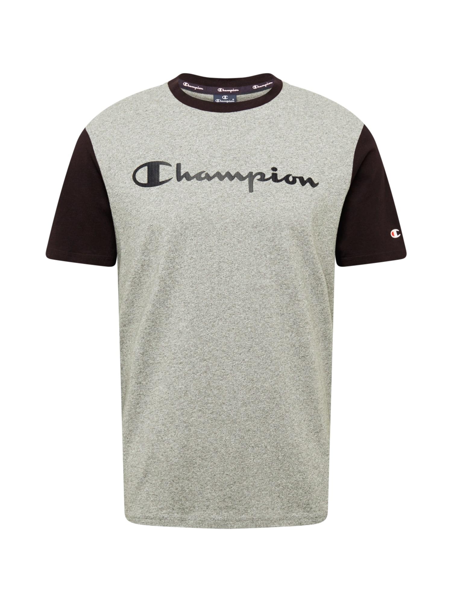 Champion Authentic Athletic Apparel Tričko  tmavě šedá / černá / šedý melír