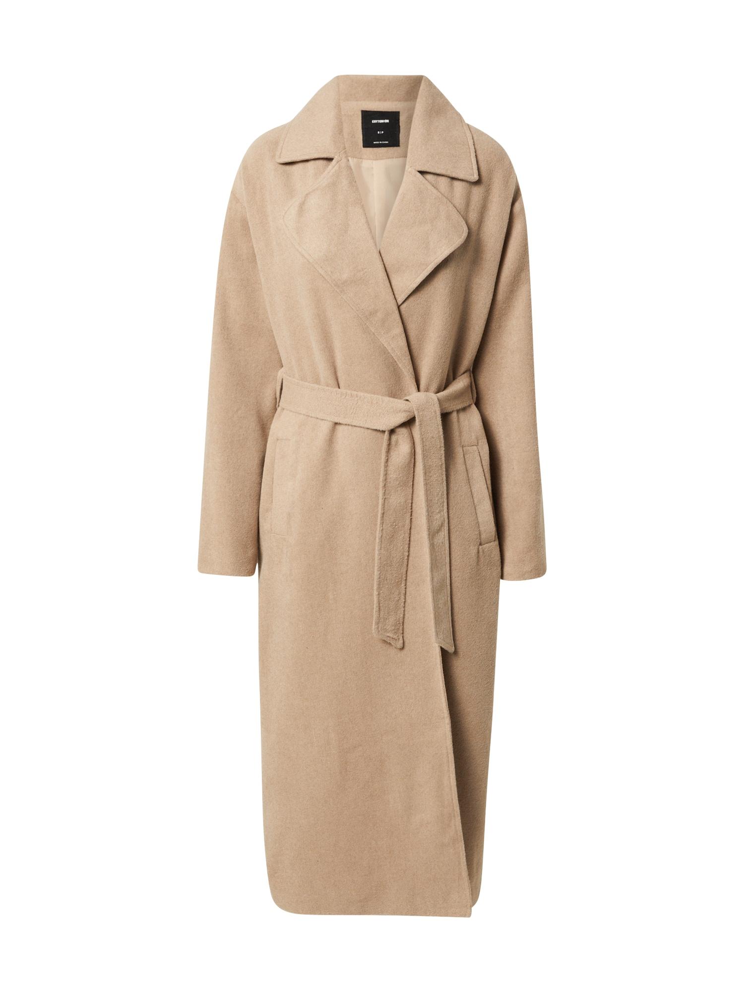 Cotton On Demisezoninis paltas kapučino spalva