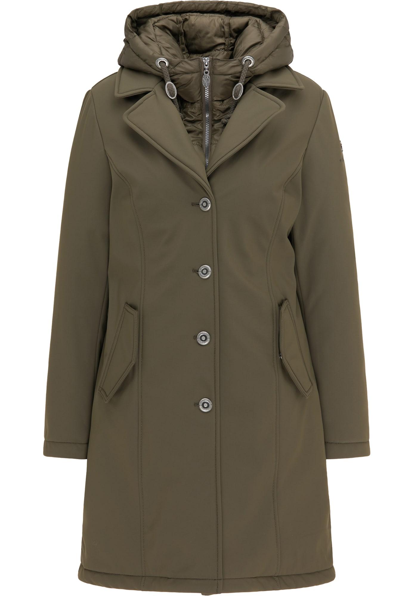 DreiMaster Klassik Žieminis paltas tamsiai žalia