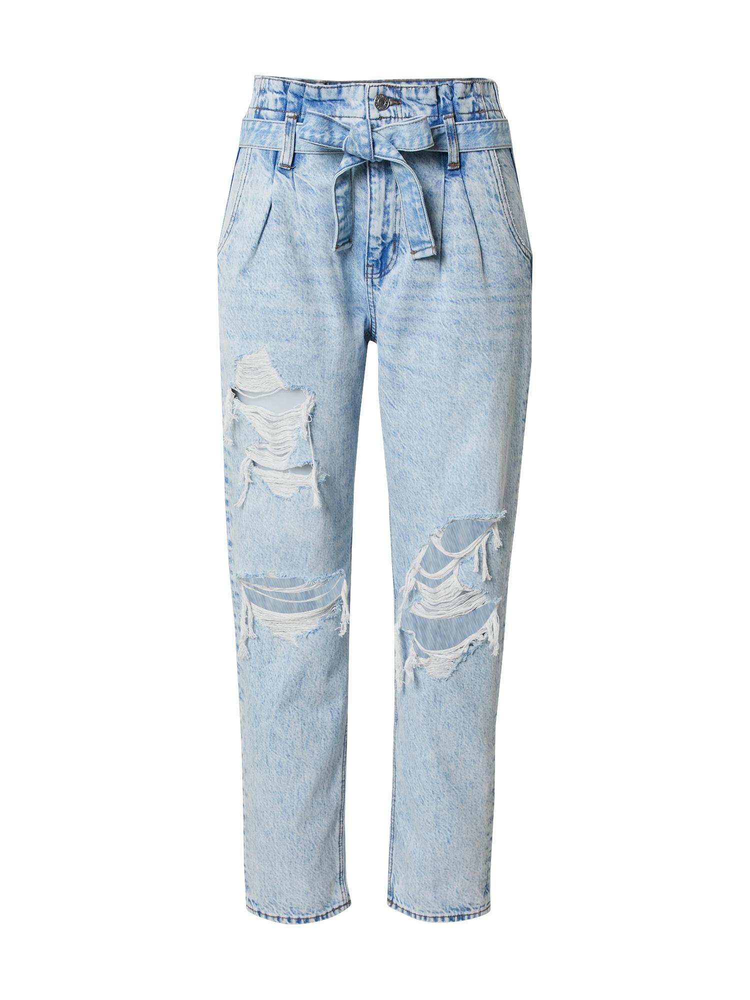 American Eagle Džinsai su kantu tamsiai (džinso) mėlyna