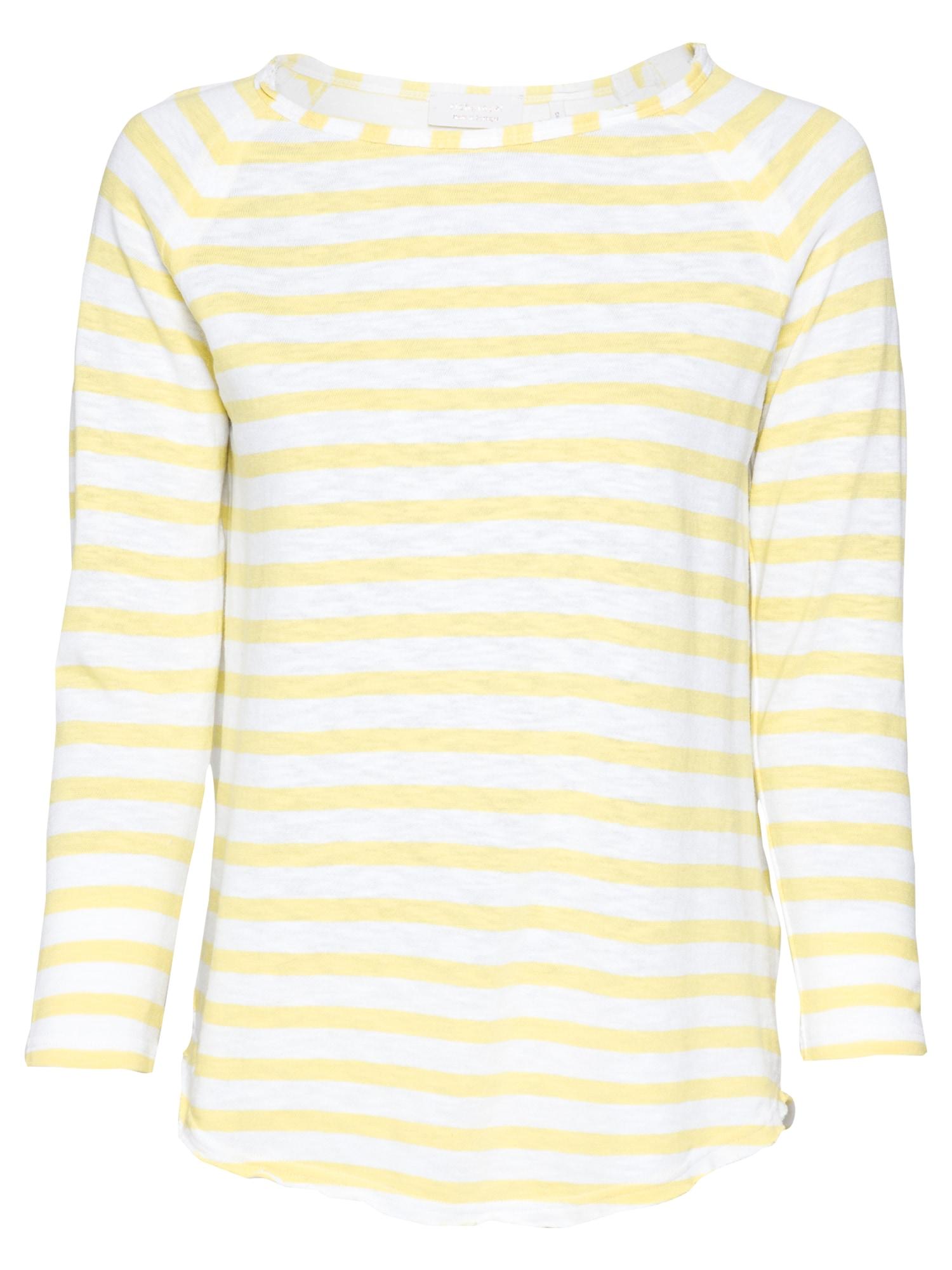 Rich & Royal Marškinėliai geltonosios citrinos spalva / balta