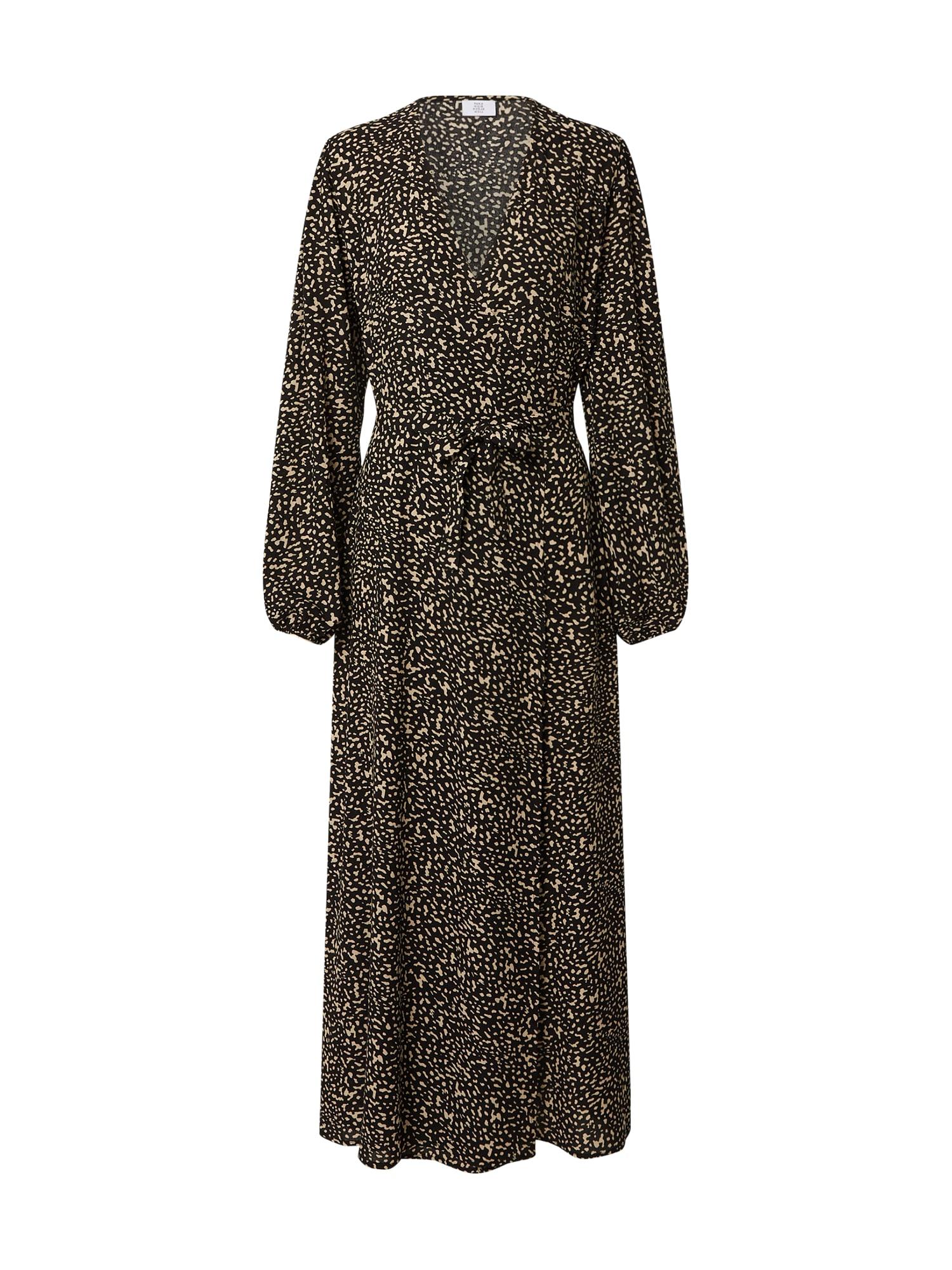 Kauf Dich Glücklich Palaidinės tipo suknelė juoda / kupranugario