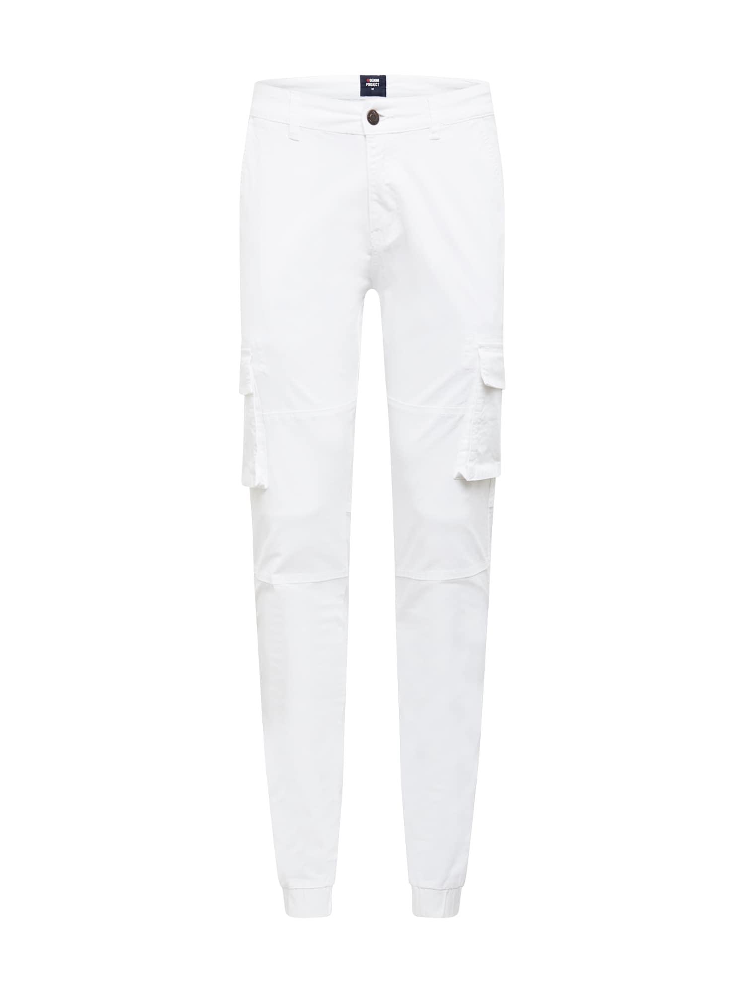 Denim Project Laisvo stiliaus kelnės balta