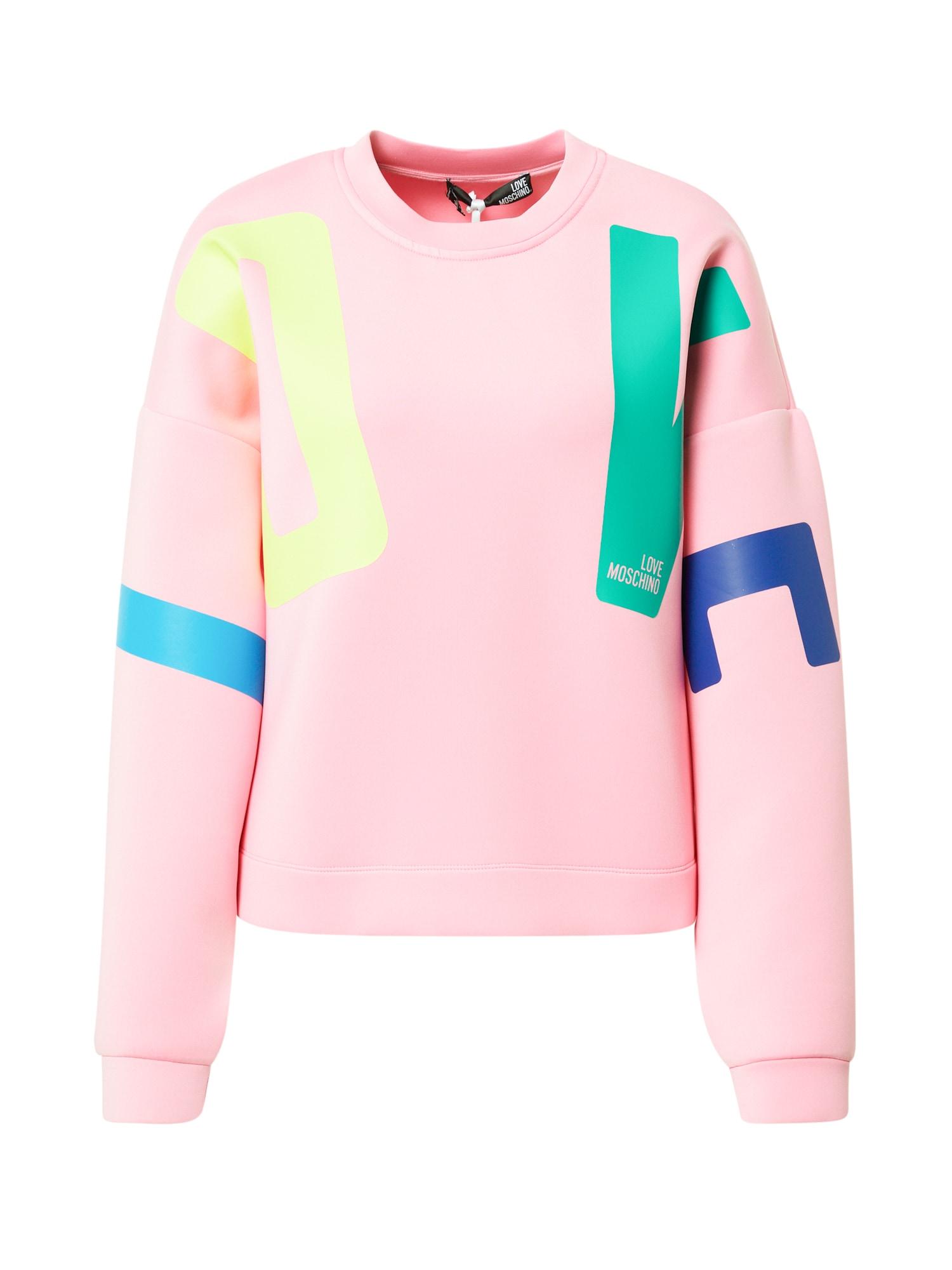 Love Moschino Megztinis be užsegimo šviesiai rožinė / šviesiai geltona / mėlyna / žalia