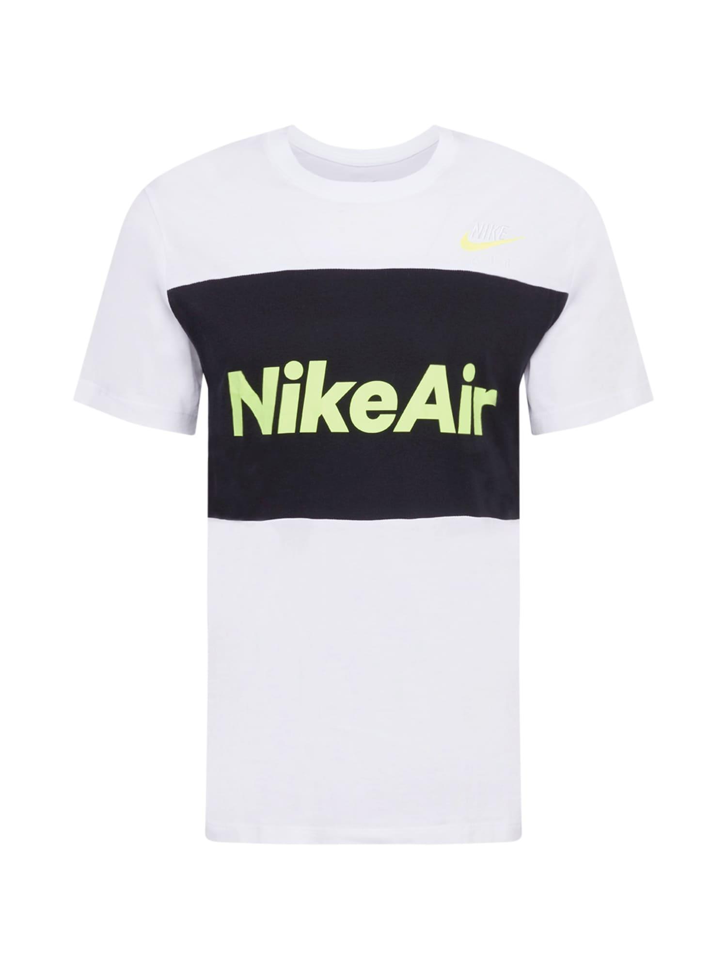 Nike Sportswear Tričko  černá / bílá / žlutá