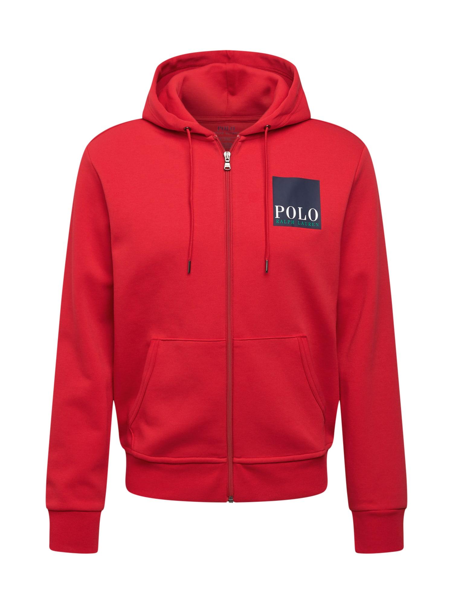 POLO RALPH LAUREN Džemperis raudona / tamsiai mėlyna / balta / žalia