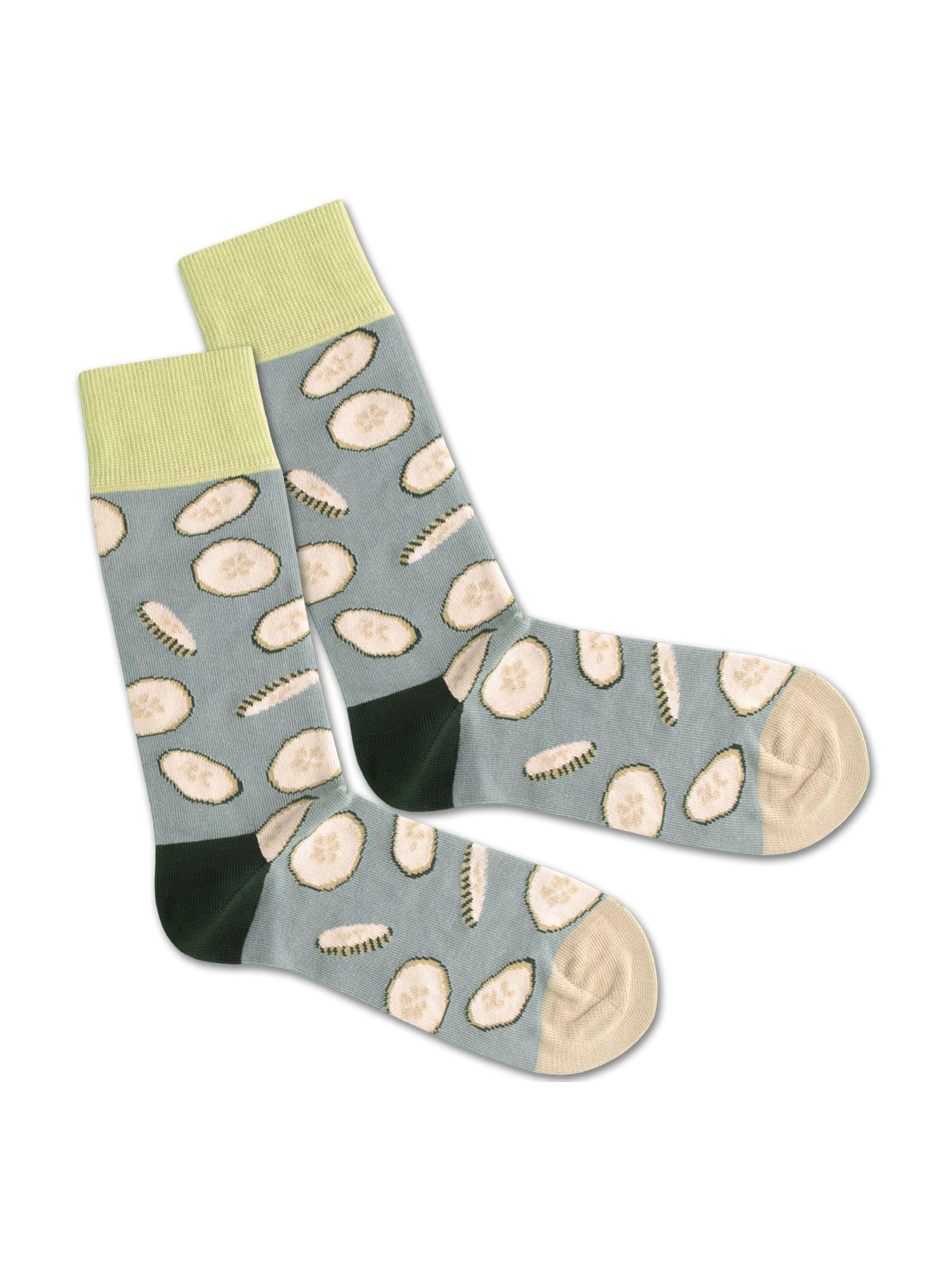 DillySocks Ponožky 'Cucumber Water'  béžová / zelená / šedá