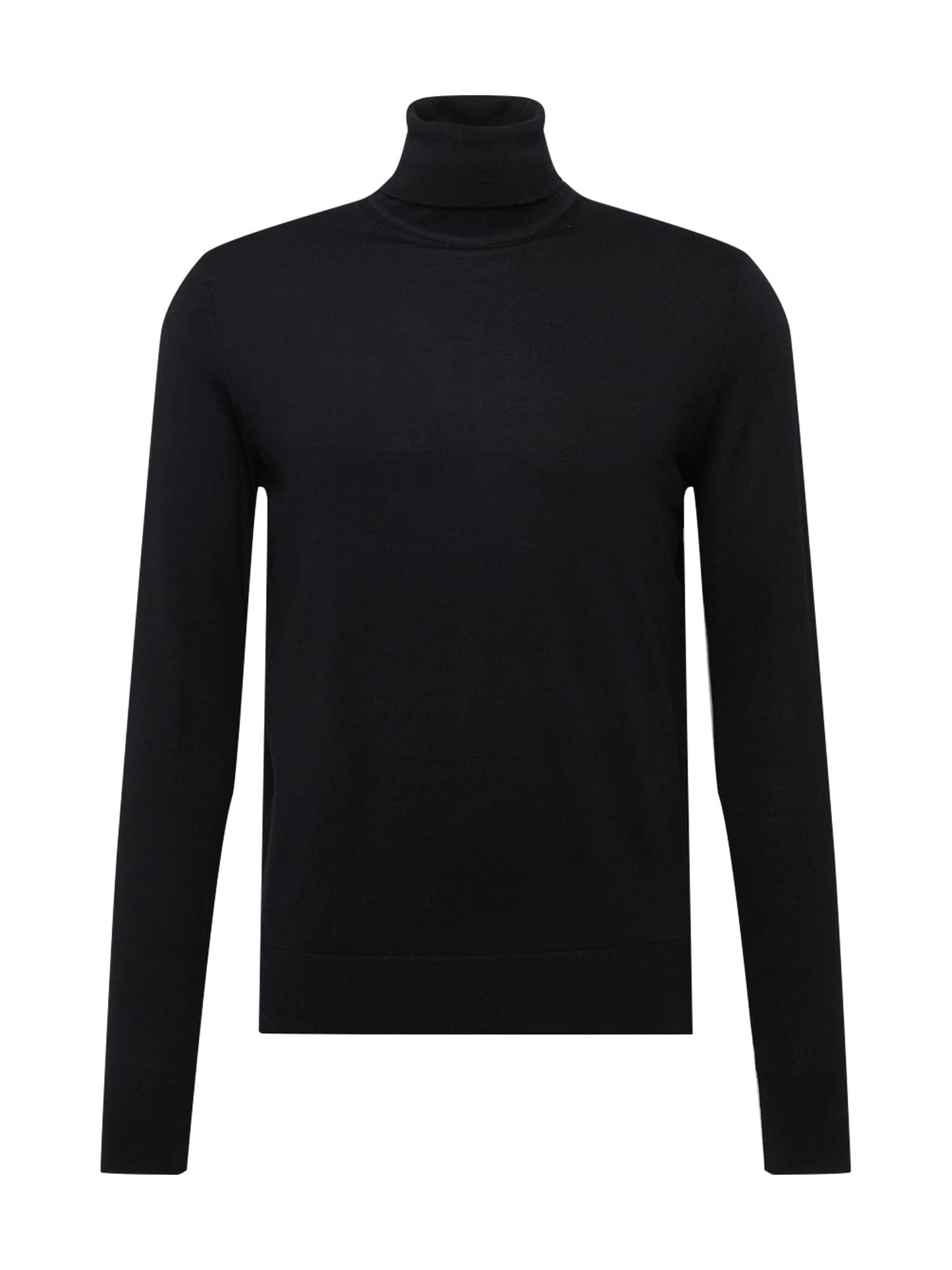 Tommy Hilfiger Tailored Svetr 'FINE GAUGE LUXURY'  černá