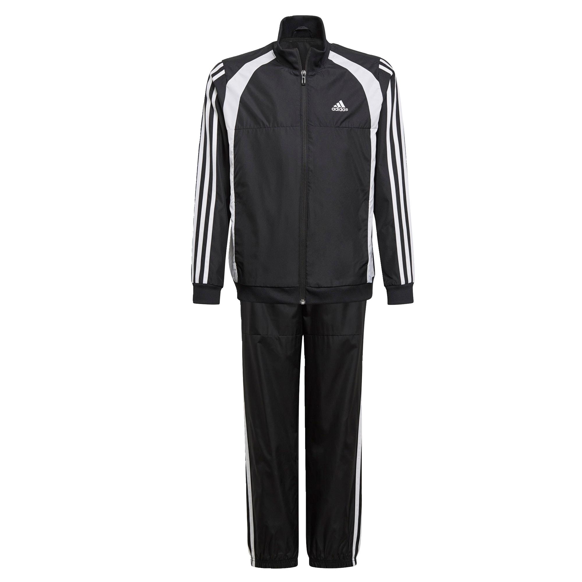 ADIDAS PERFORMANCE Sportinis kostiumas juoda / balta