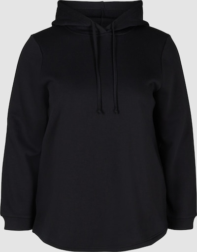 Sweatshirt von Zizzi.  Super bequemes Sweatshirt aus schlichtem Design unbd aus weicher Baumwollmischung. Das Sweatshirt hat eine Kapuze mit Kordelzug und einen Gummibund an den langen Ärmeln.