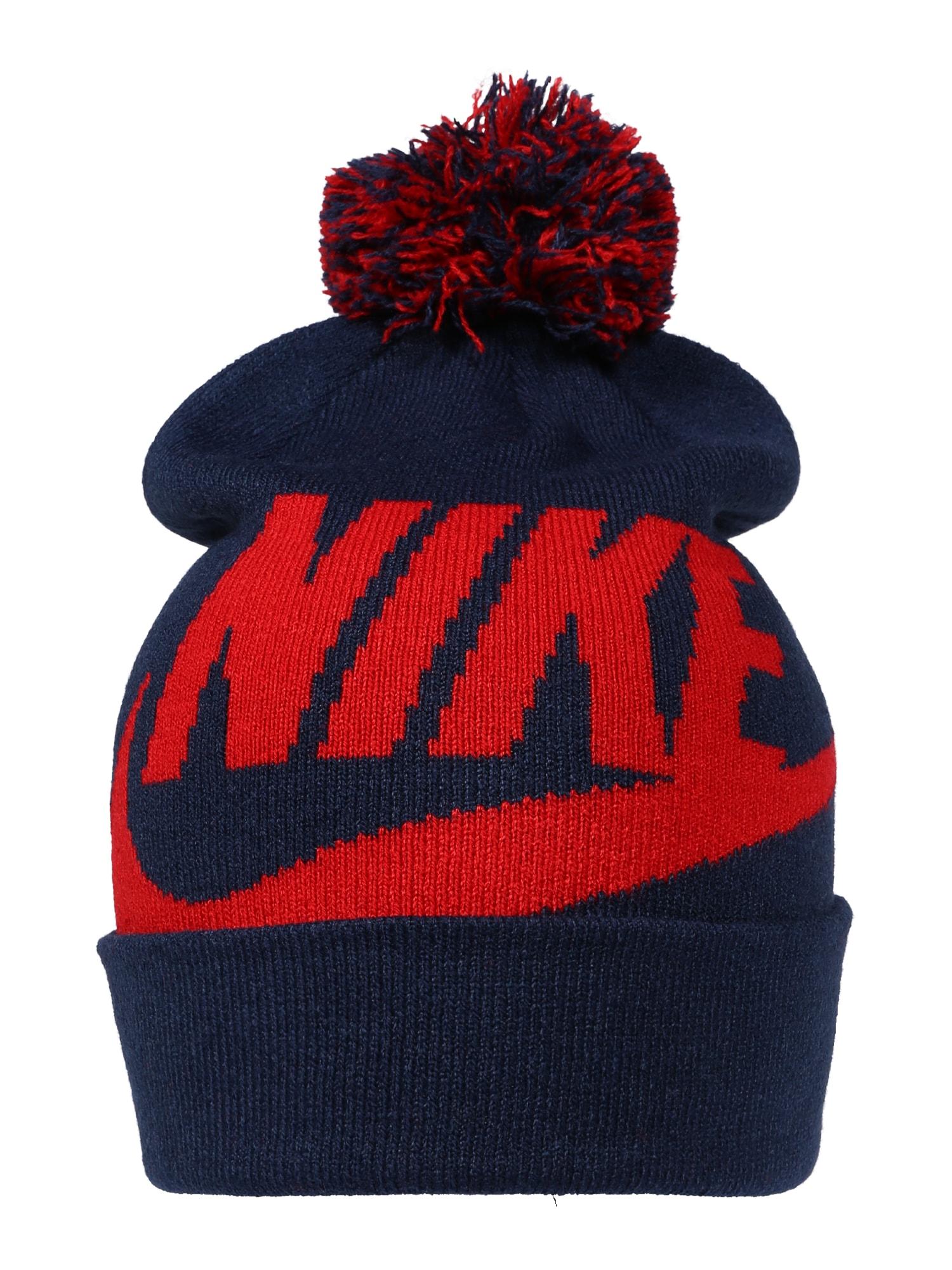 Nike Sportswear Megzta kepurė 'Mütze & Handschuhe' nakties mėlyna