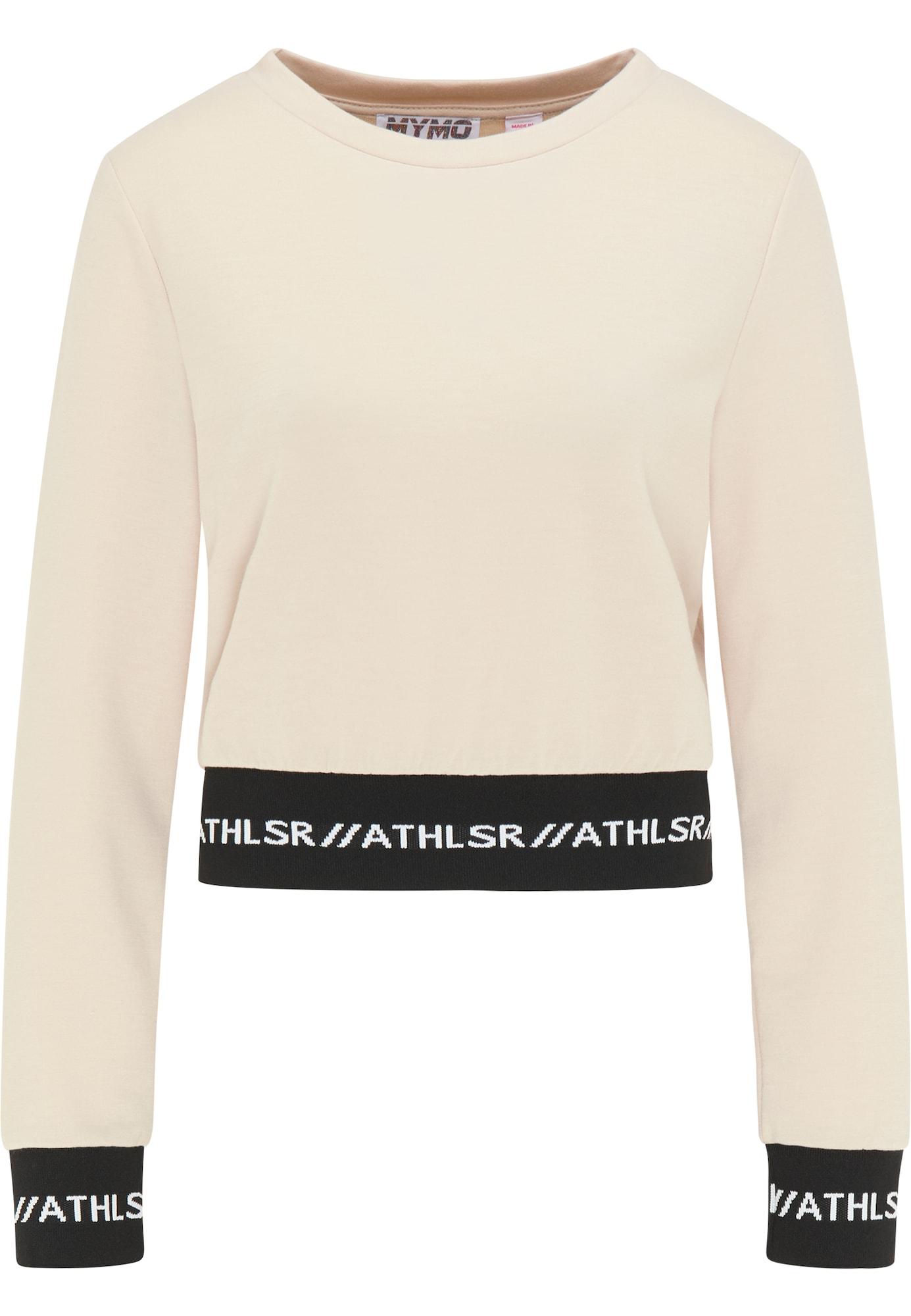 myMo ATHLSR Sportinio tipo megztinis smėlio / juoda / balta