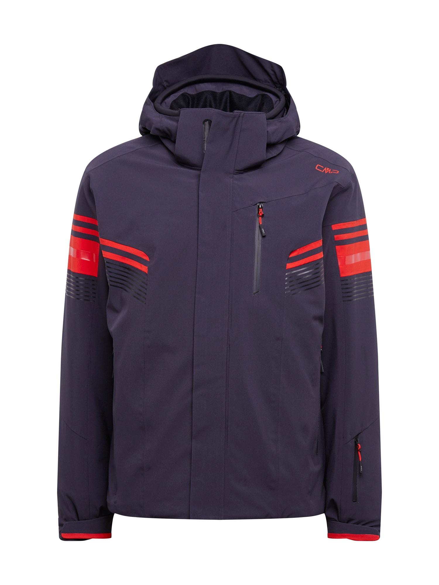 CMP Sportovní bunda  antracitová / červená