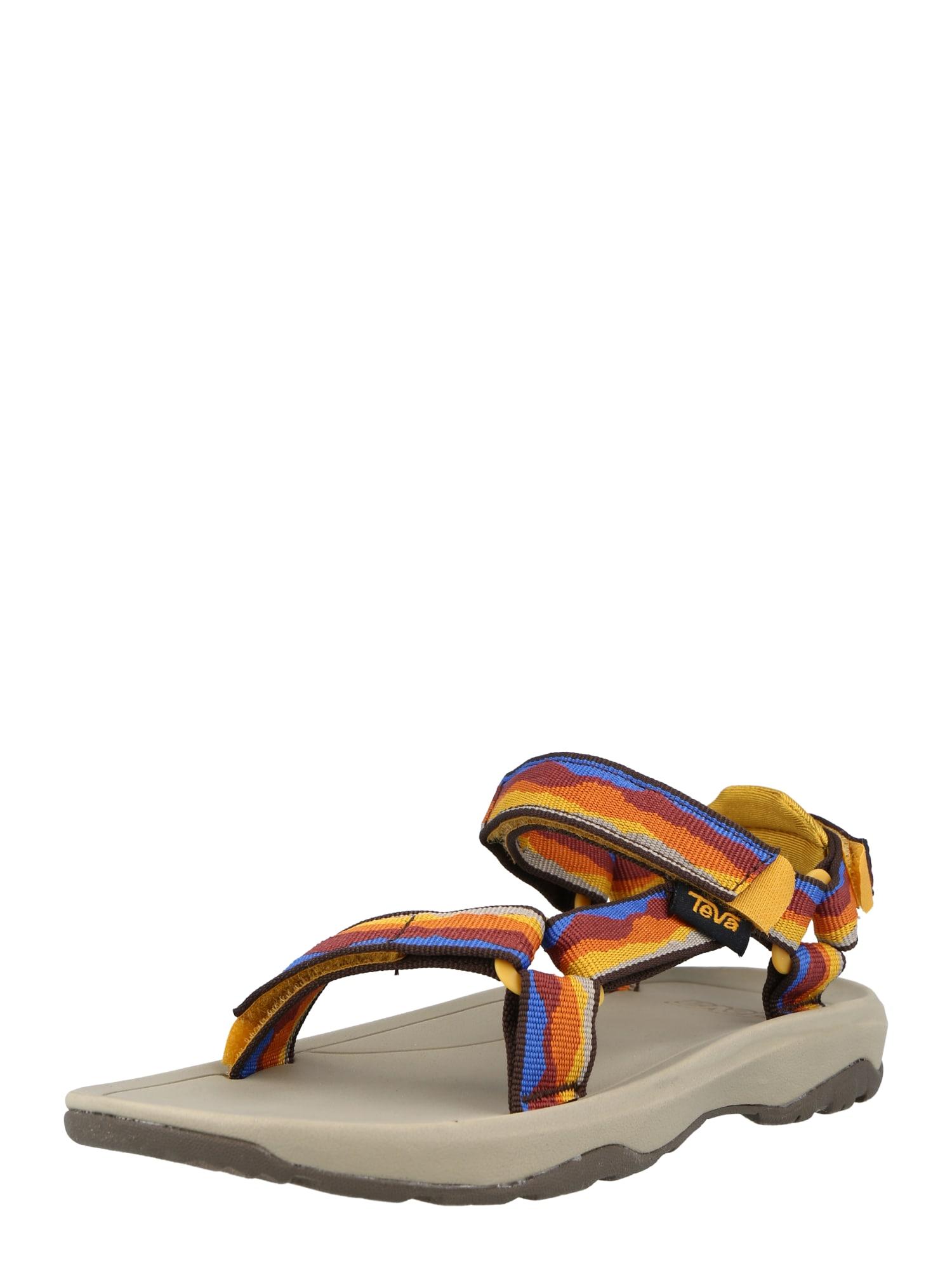 TEVA Atviri batai geltona / mėlyna / oranžinė / tamsiai raudona