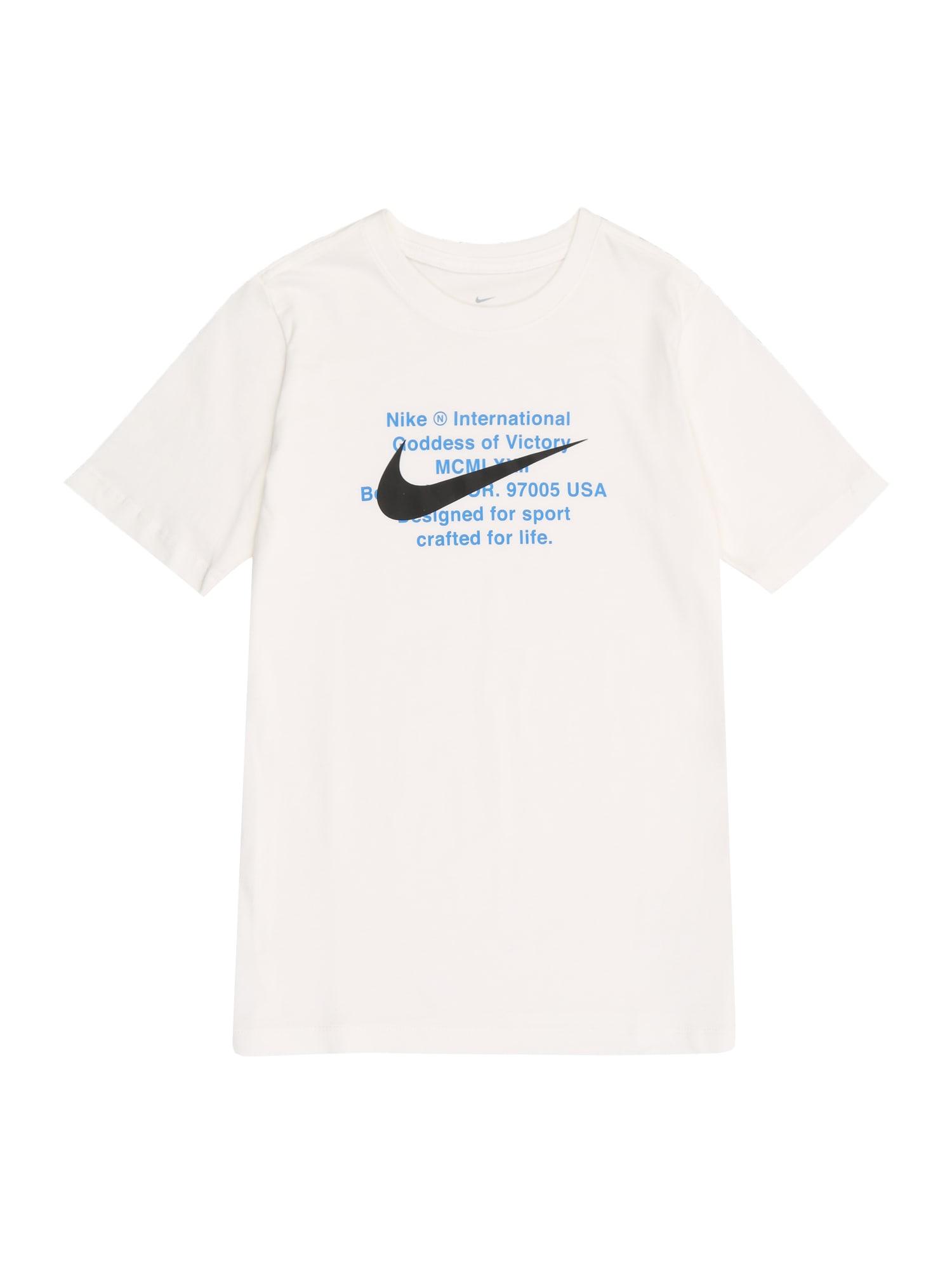 Nike Sportswear Tričko  modrá / biela / čierna