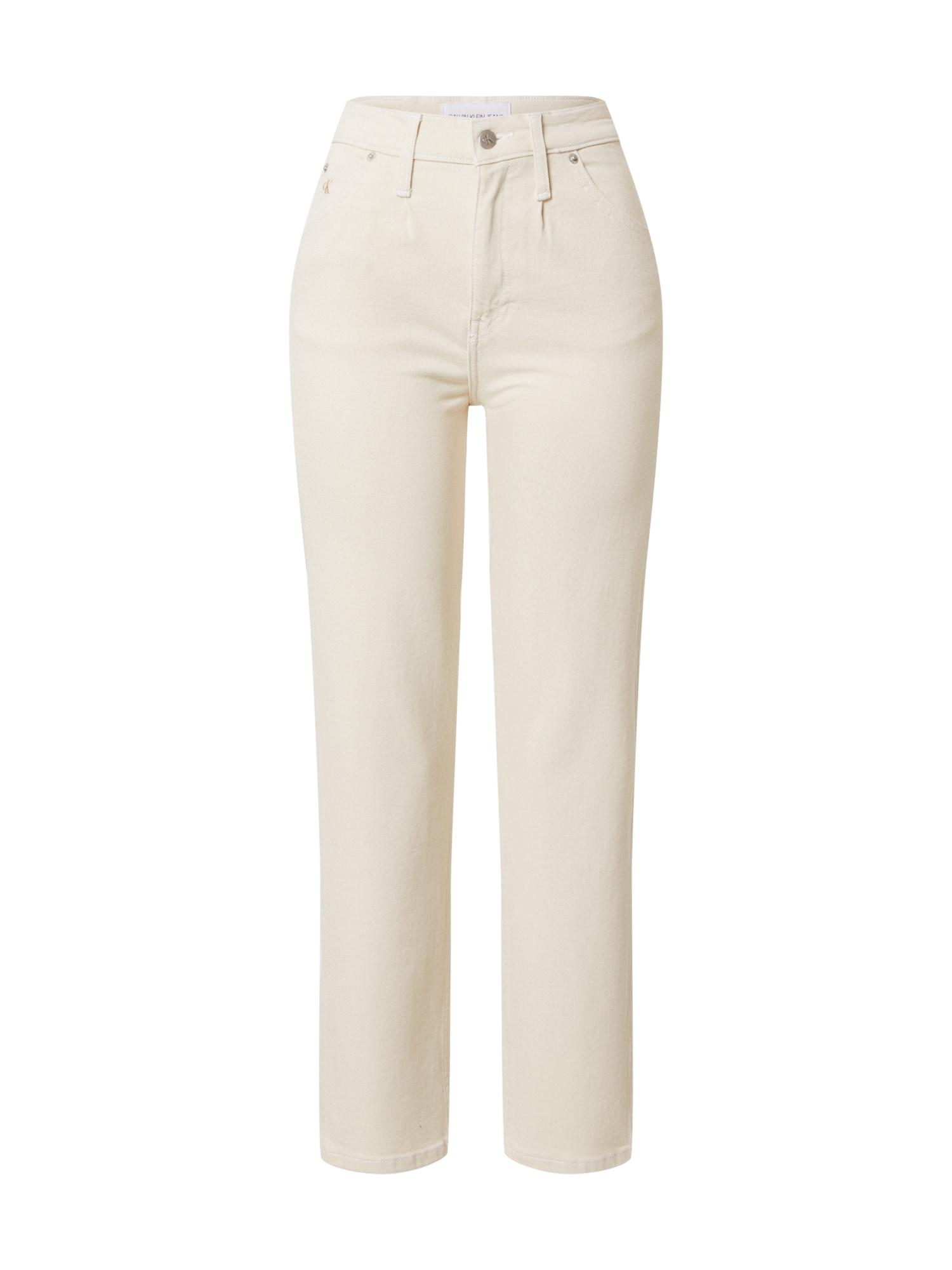 Calvin Klein Jeans Džinsai balto džinso spalva / aukso geltonumo spalva