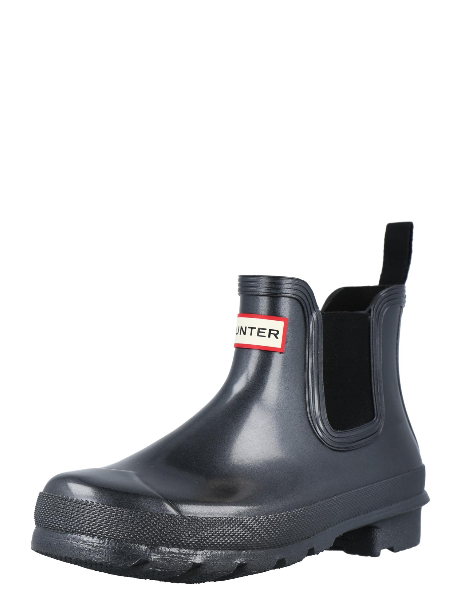 """HUNTER """"Chelsea"""" batai juoda / balta / raudona"""
