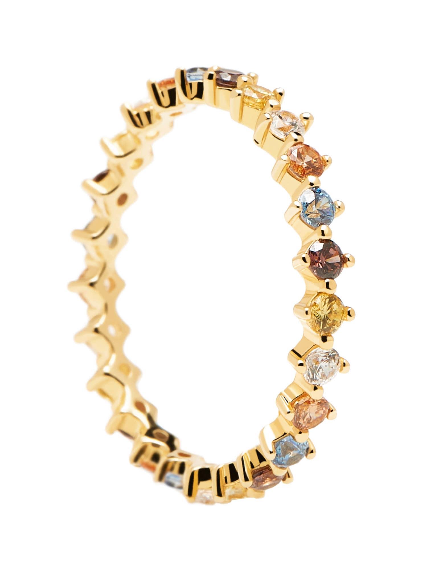P D PAOLA Žiedas aukso geltonumo spalva / mišrios spalvos