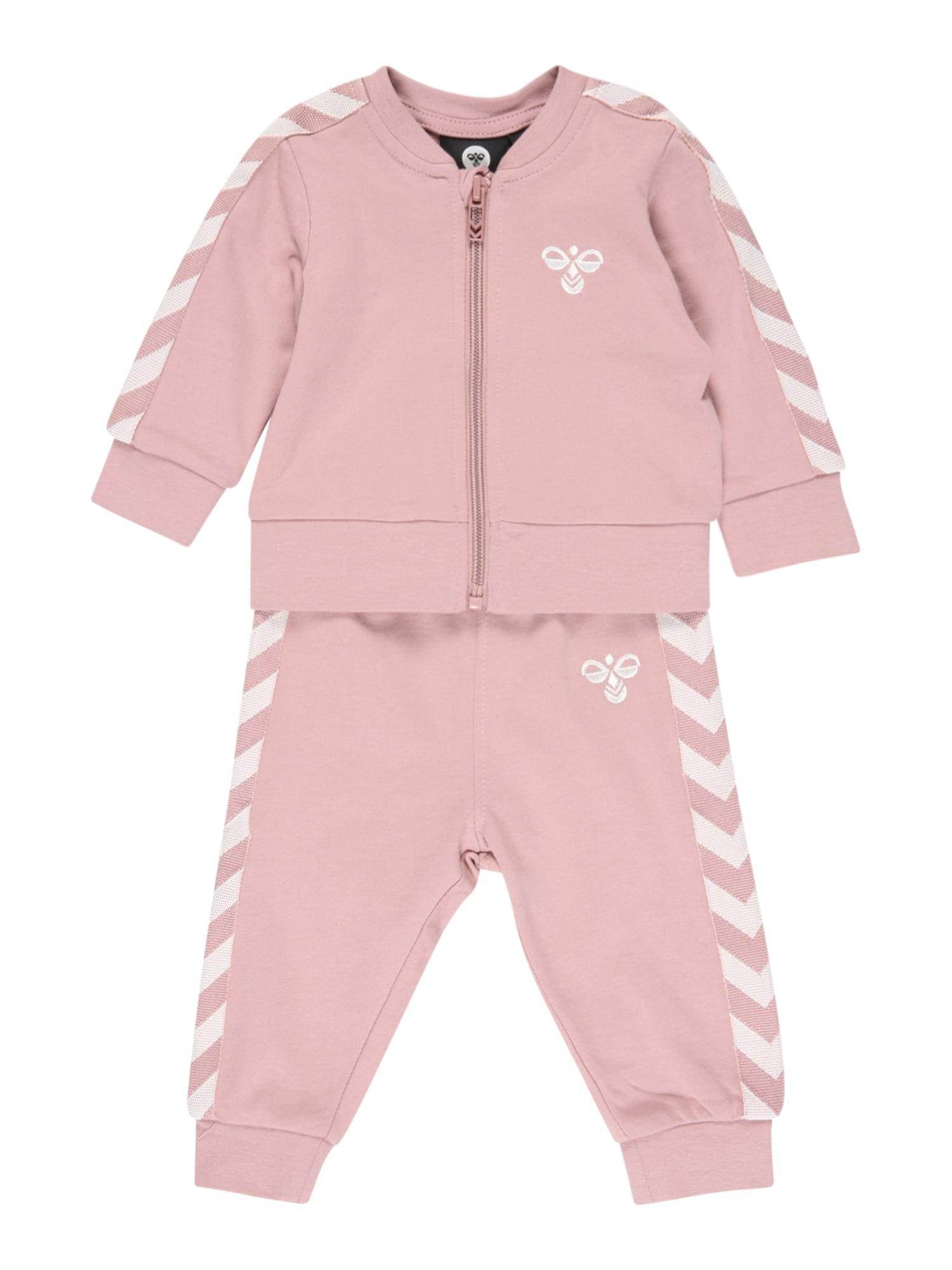 Hummel Treniruočių kostiumas ryškiai rožinė spalva / balta