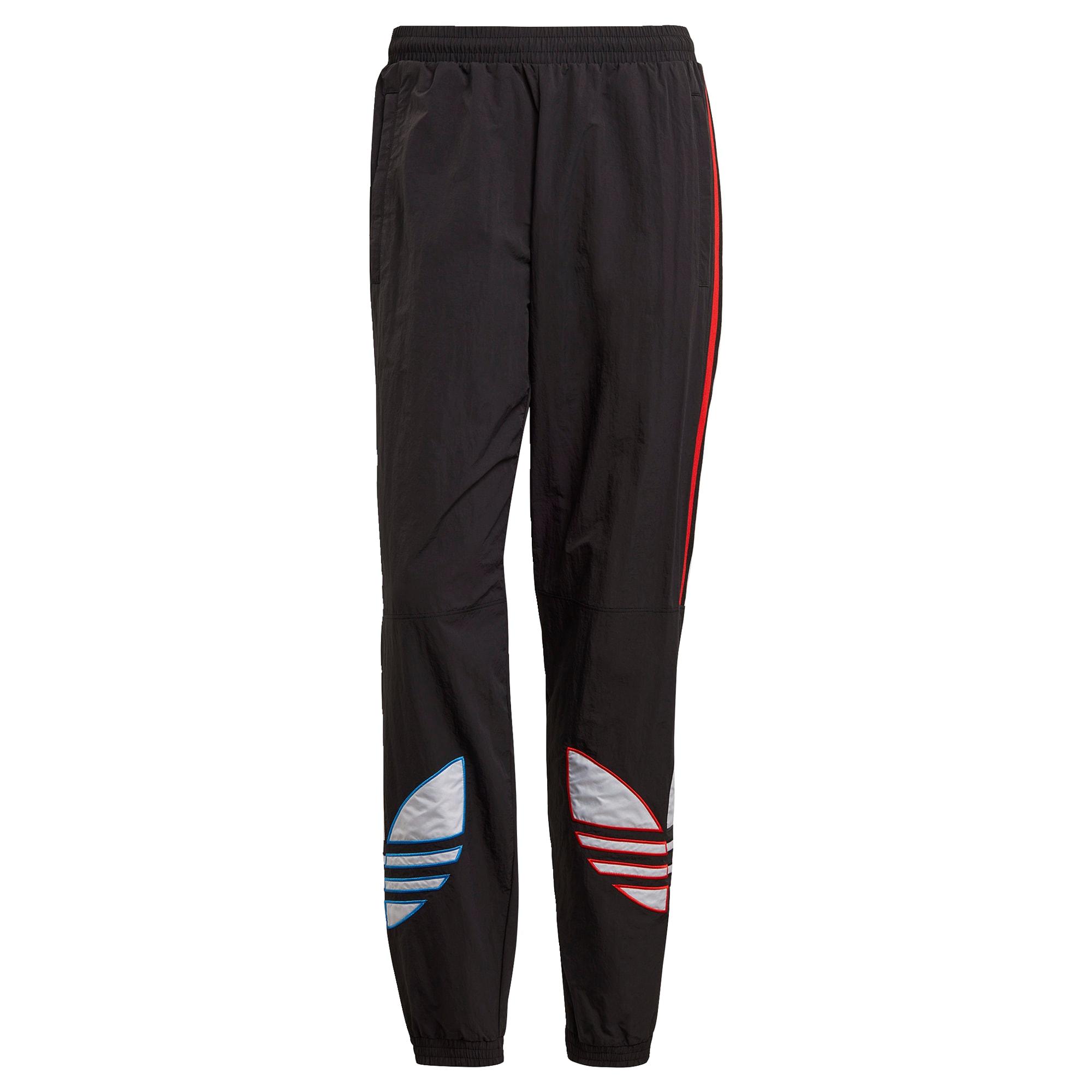 ADIDAS ORIGINALS Kelnės juoda / raudona / mėlyna