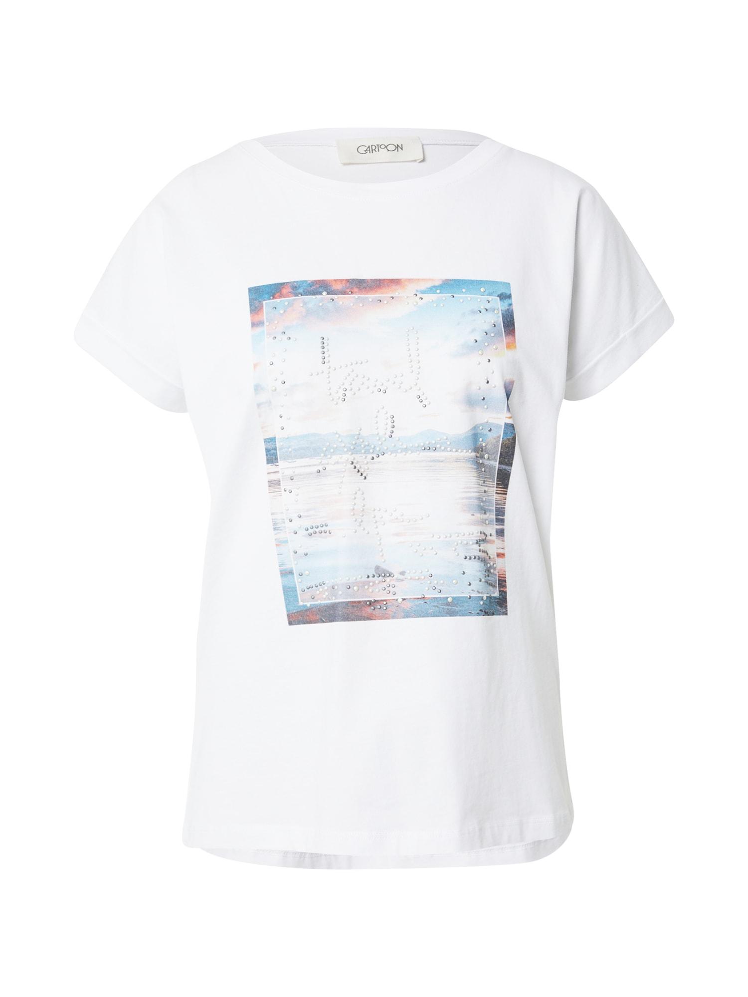 Cartoon Marškinėliai balta / šviesiai mėlyna / tamsiai mėlyna jūros spalva / pastelinė raudona / opalo