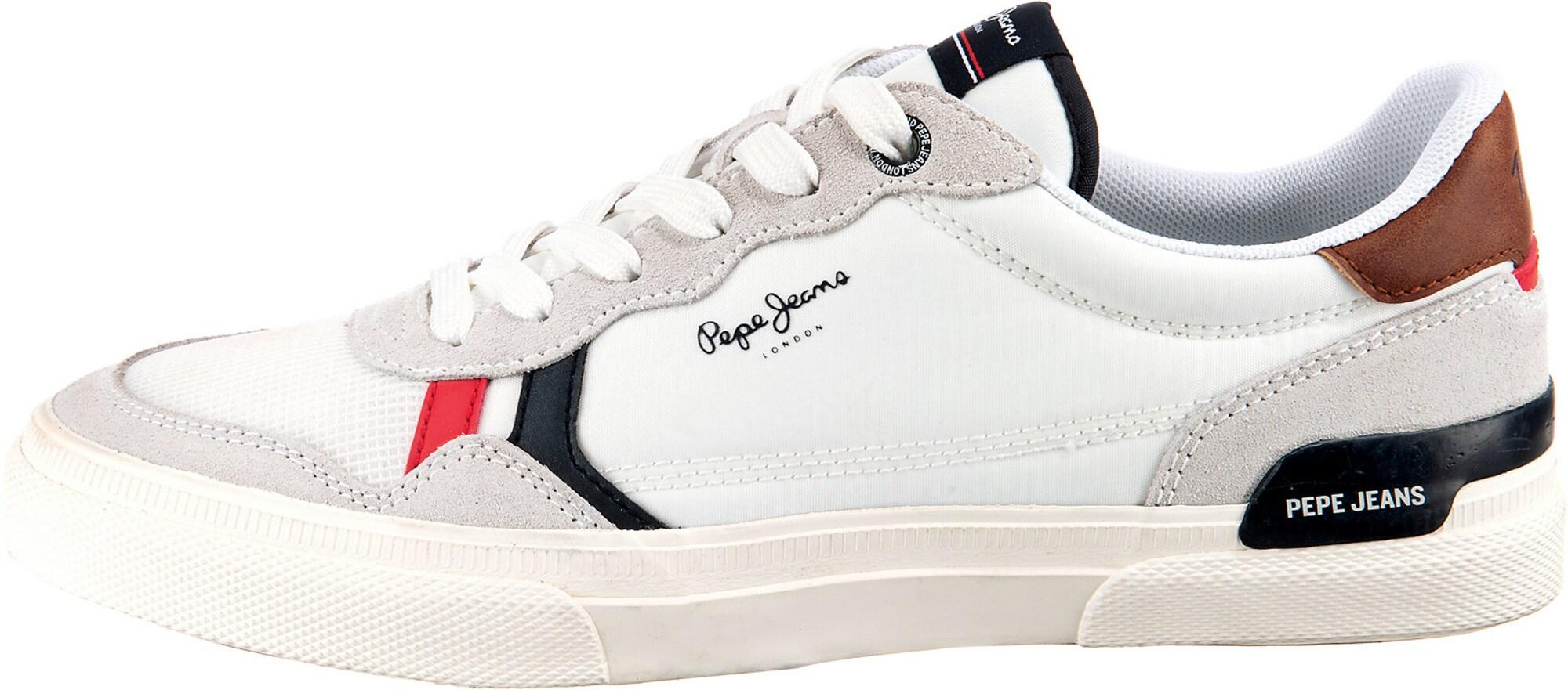 Pepe Jeans Tenisky  bílá / šedá / červená / modrá / hnědá
