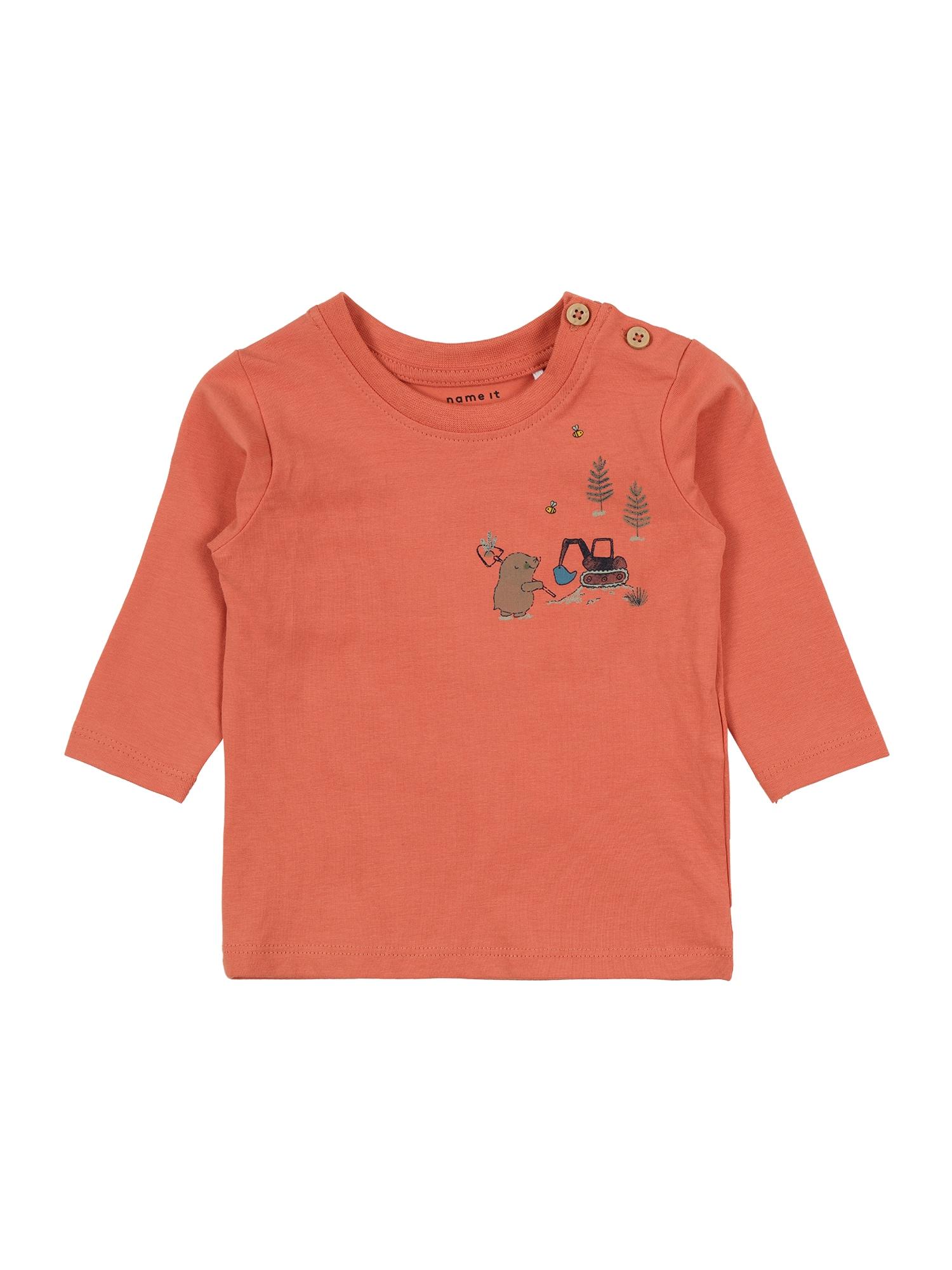 NAME IT Marškinėliai koralų splava / pilka / mėlyna / tamsiai raudona / geltona