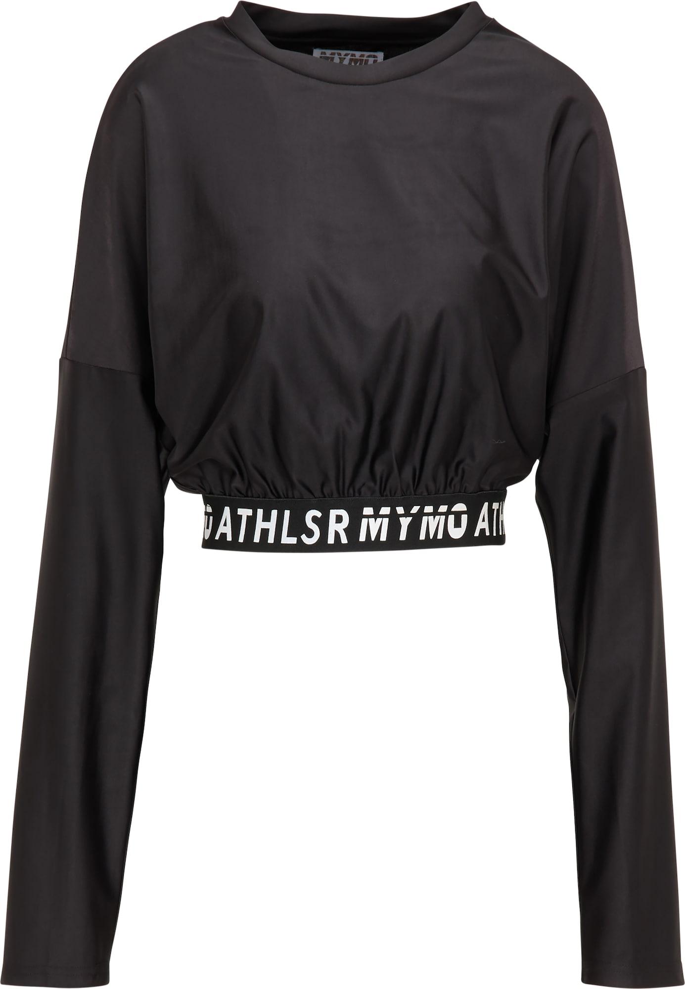 myMo ATHLSR Sportiniai marškinėliai balta / juoda