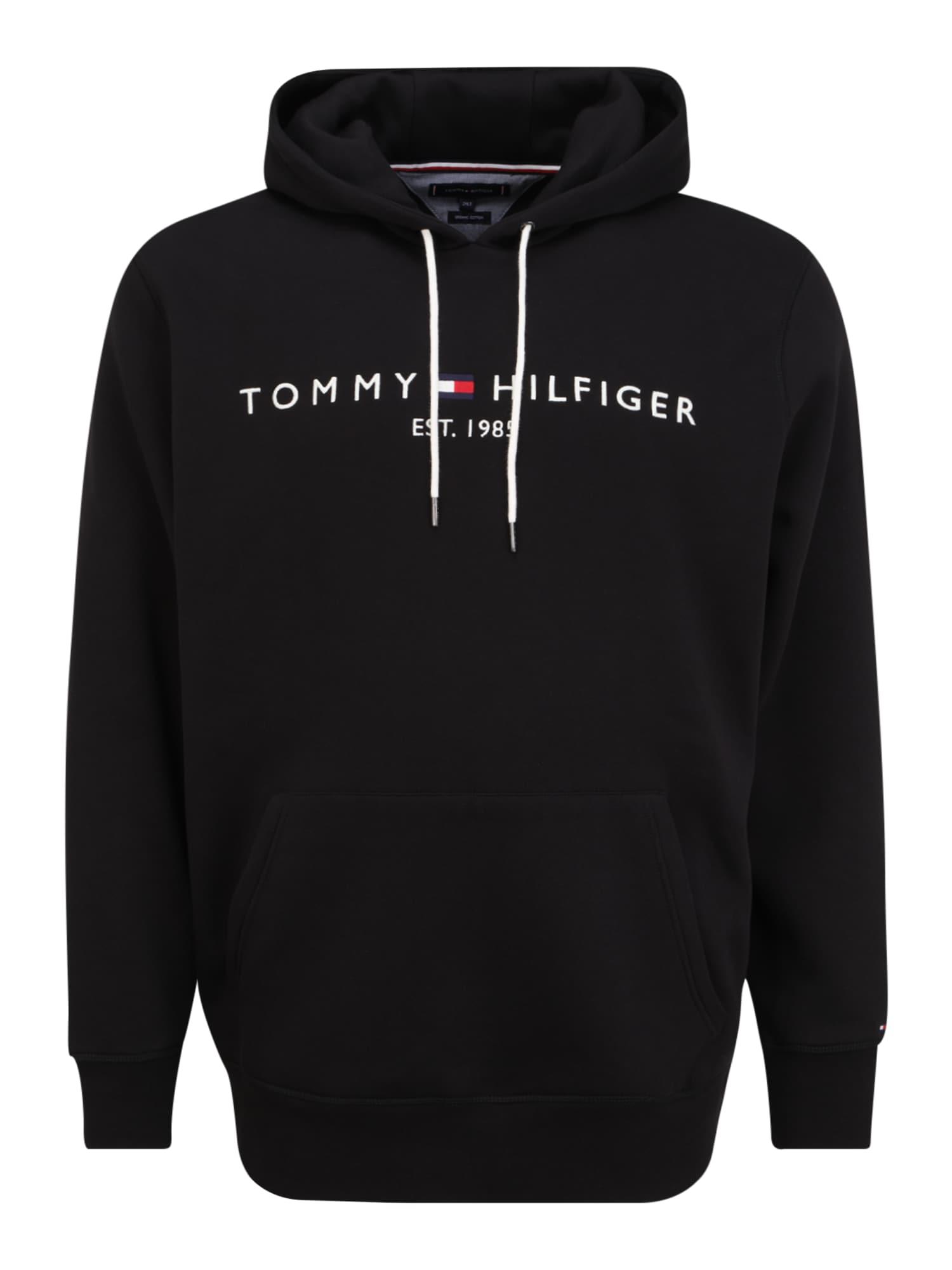 Tommy Hilfiger Big & Tall Megztinis be užsegimo juoda / balta