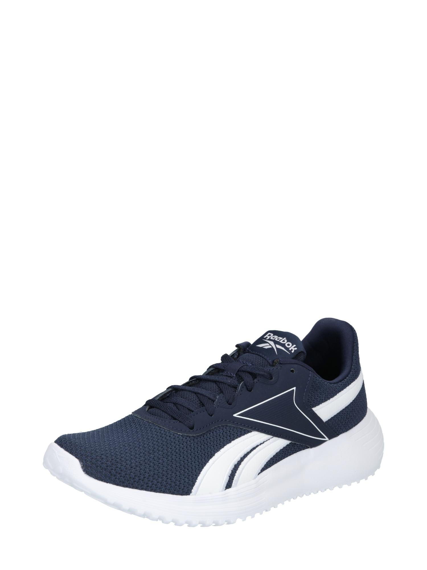 Reebok Sport Bėgimo batai balta / tamsiai mėlyna
