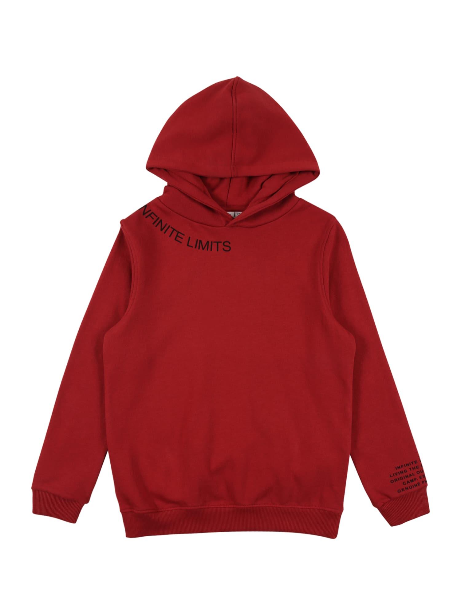 NAME IT Megztinis 'SULFUS' pastelinė raudona / juoda