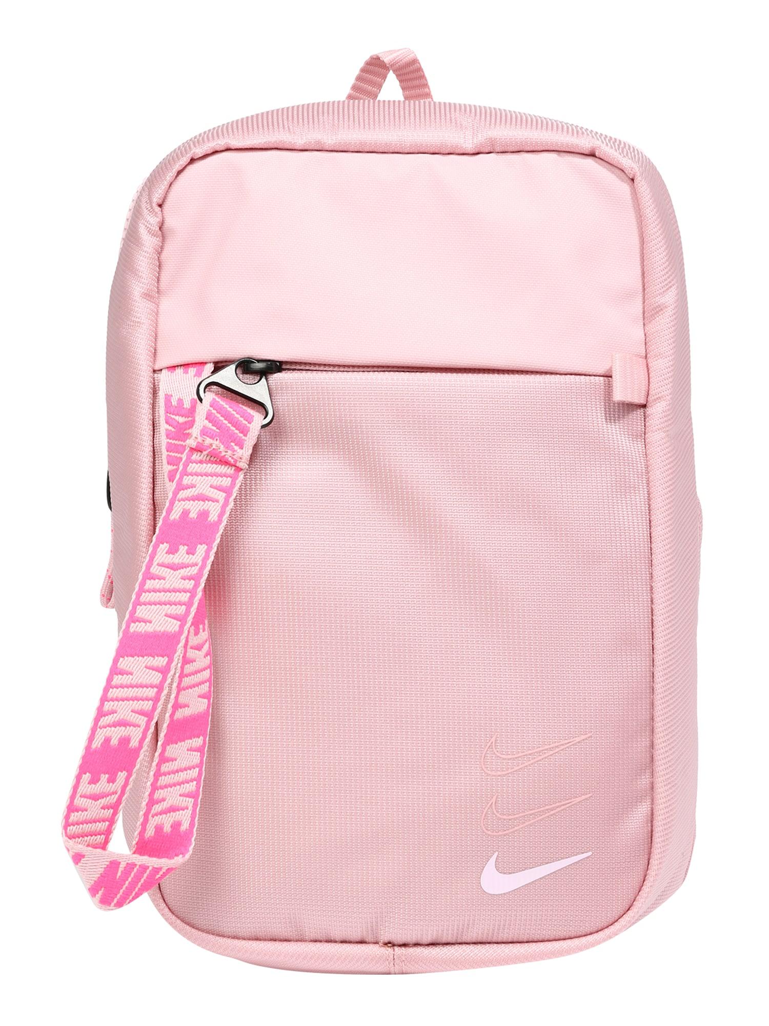 Nike Sportswear Rankinė su ilgu dirželiu 'Advance' šviesiai rožinė / balta