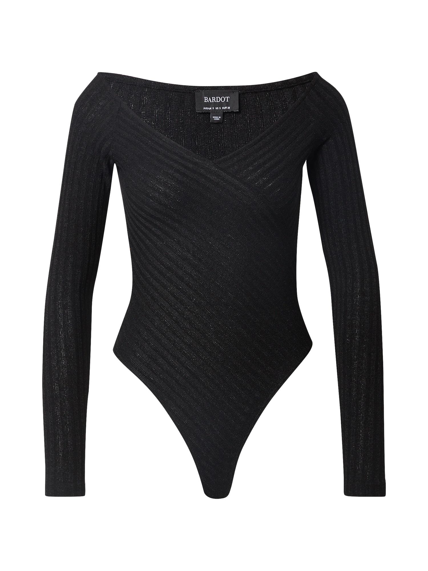Bardot Marškinėliai-glaustinukė juoda