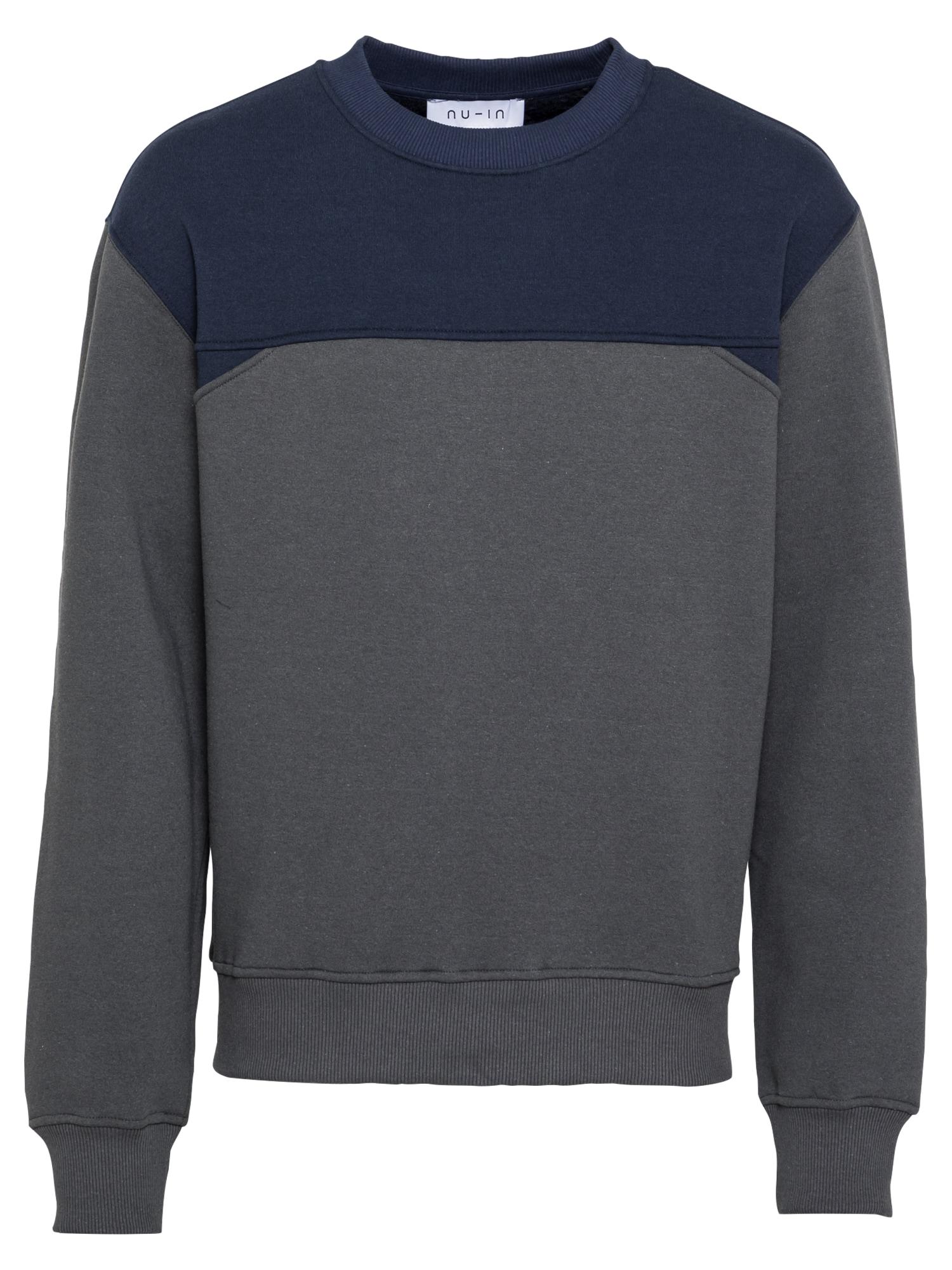 NU-IN Megztinis be užsegimo tamsiai mėlyna / tamsiai pilka