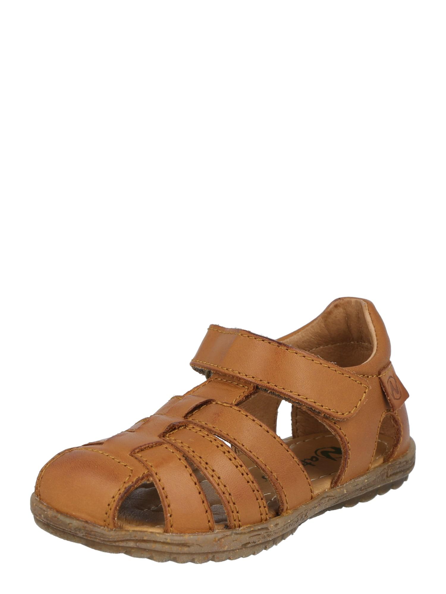 NATURINO Atviri batai ruda (konjako)