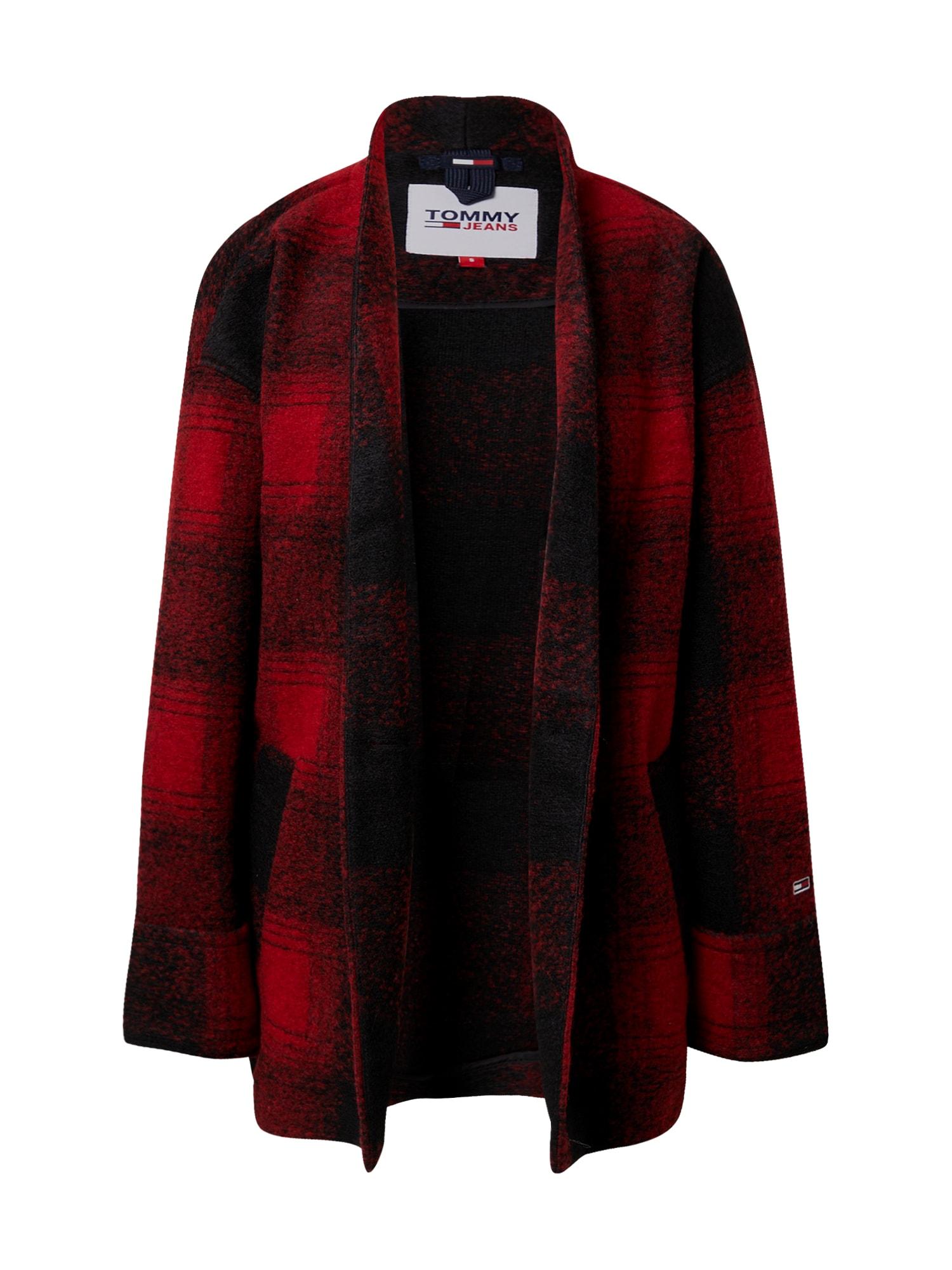 Tommy Jeans Blejzr  černá / červená