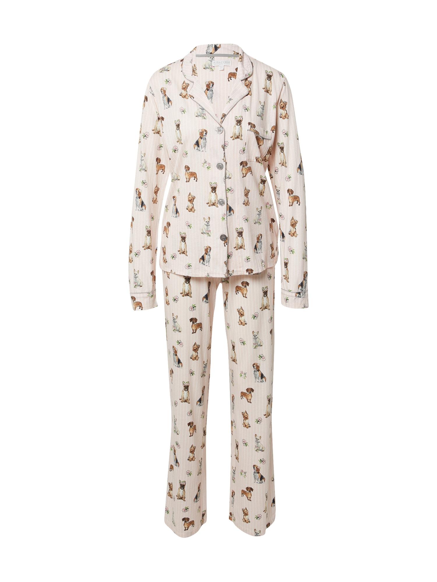 PJ Salvage Pižama rožių spalva / mišrios spalvos