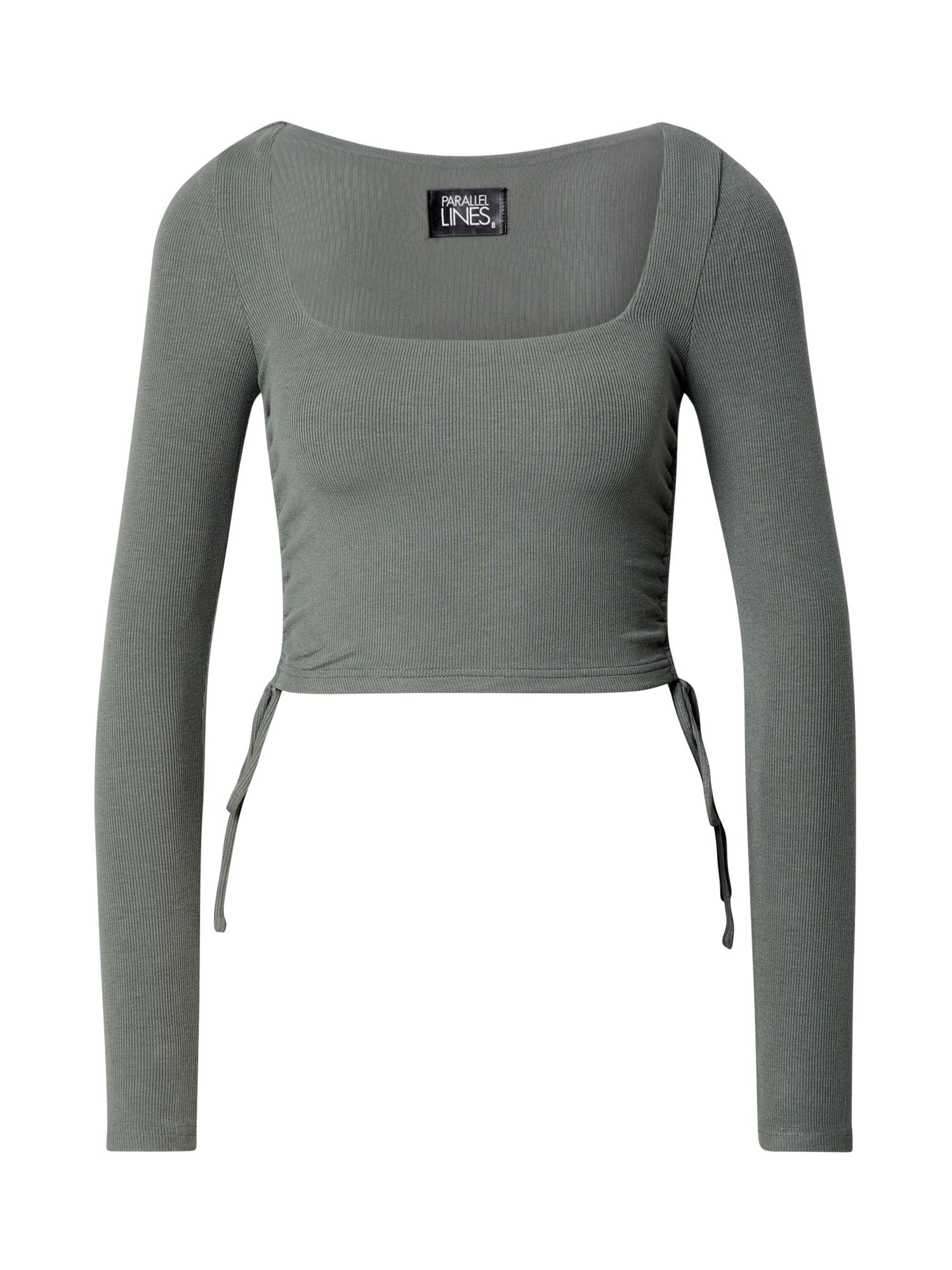 Parallel Lines Marškinėliai pastelinė žalia