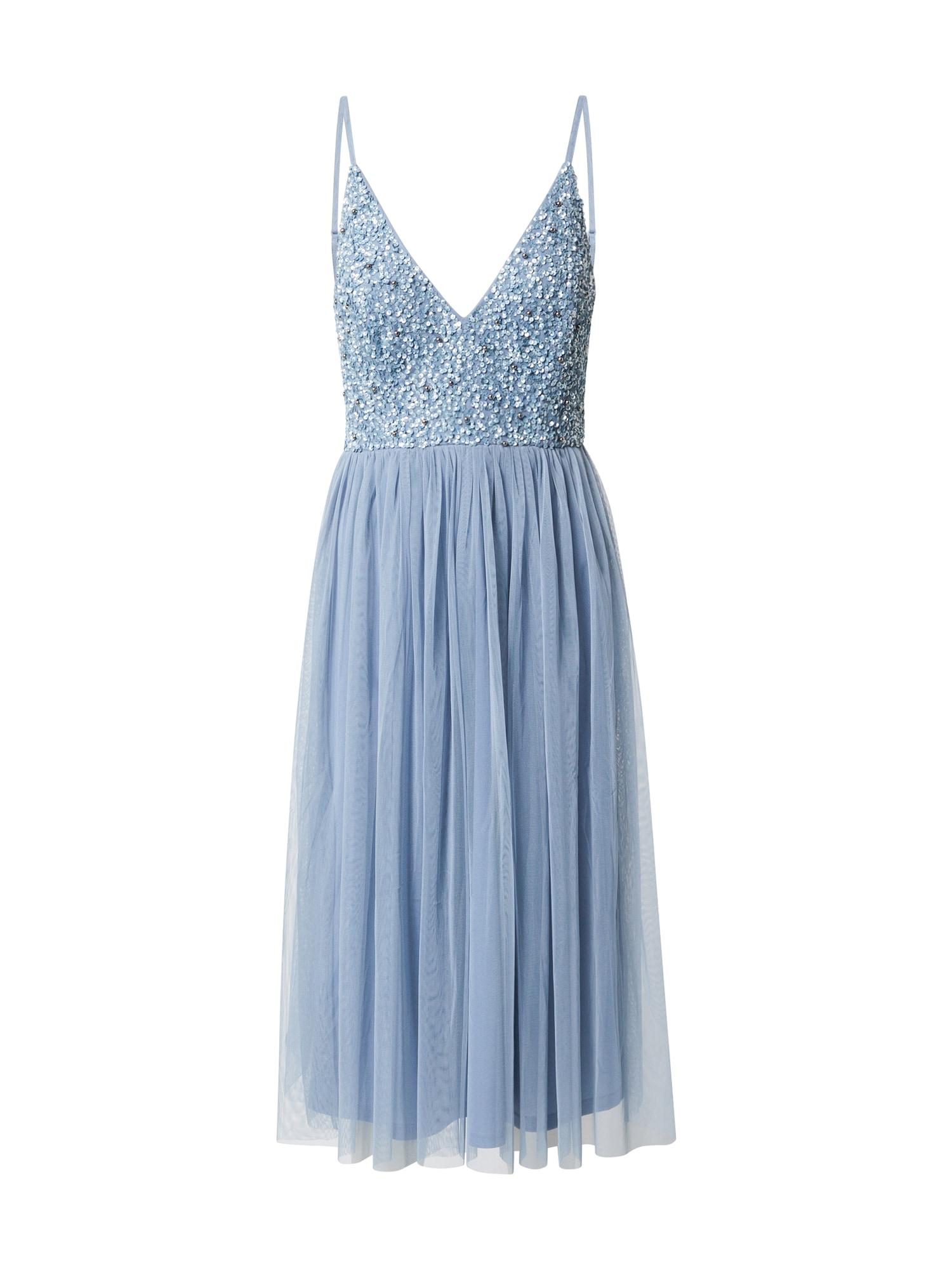 LACE & BEADS Kokteilové šaty 'Mirina'  svetlomodrá