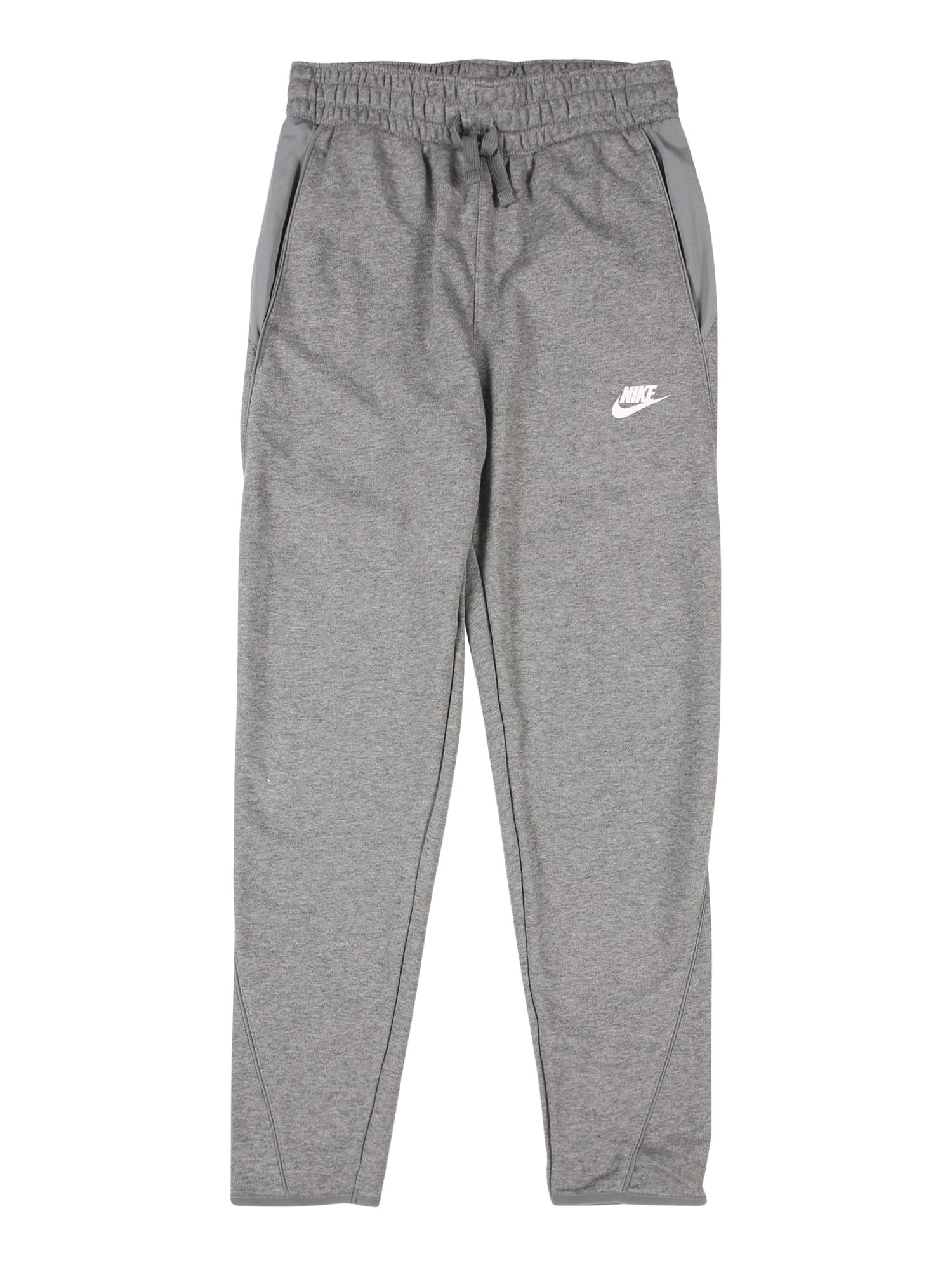 Nike Sportswear Nohavice  biela / sivá