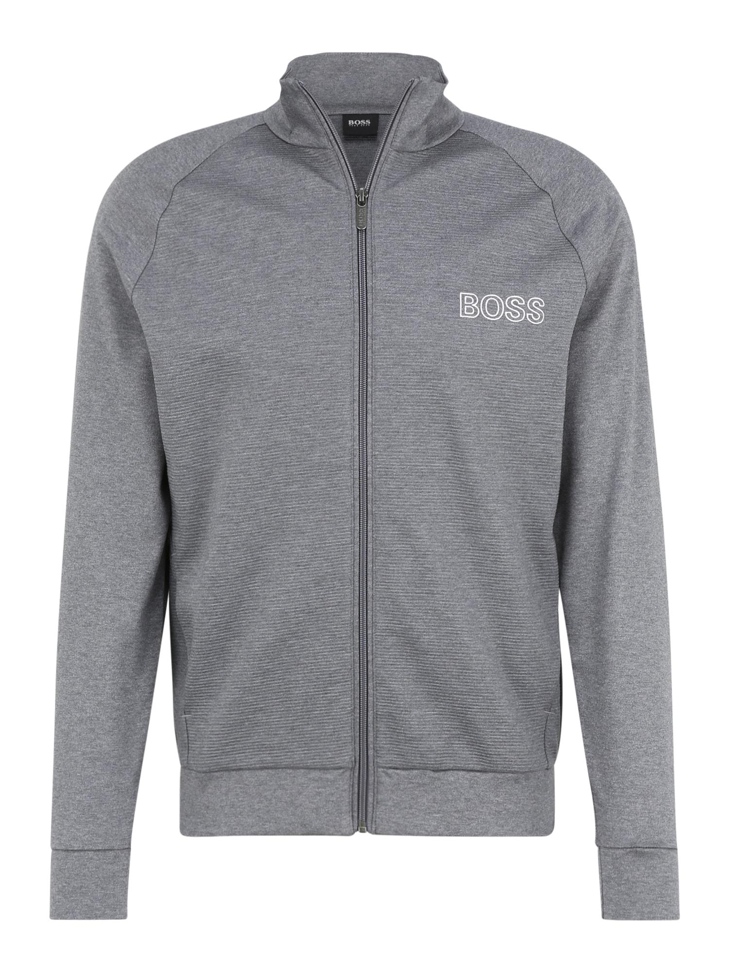 BOSS Džemperis margai pilka
