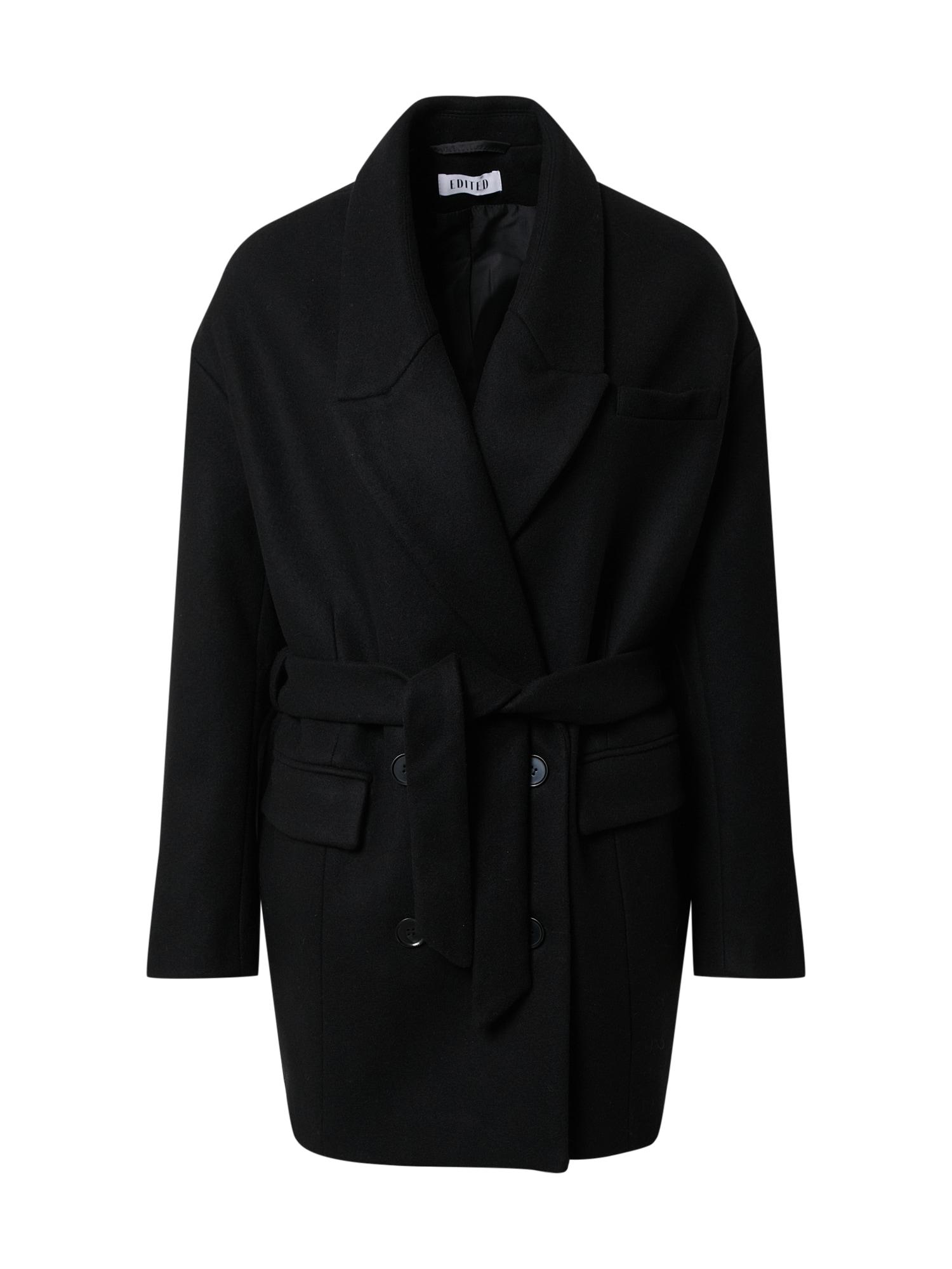 EDITED Demisezoninis paltas 'Josefa' juoda